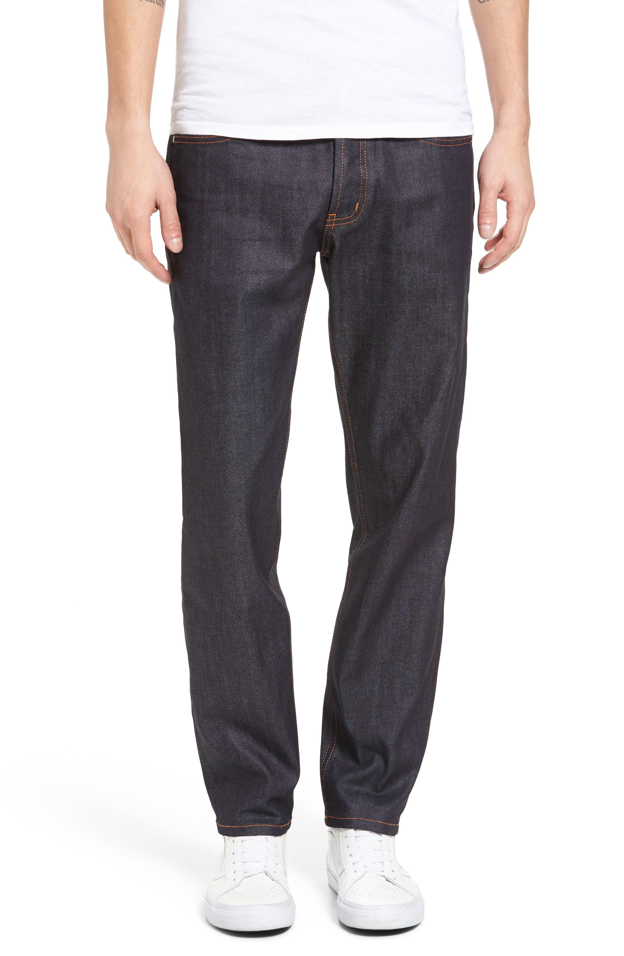 Main Image - Naked & Famous Denim Easy Guy 11 oz. Stretch Selvedge Skinny Fit Jeans (Indigo)