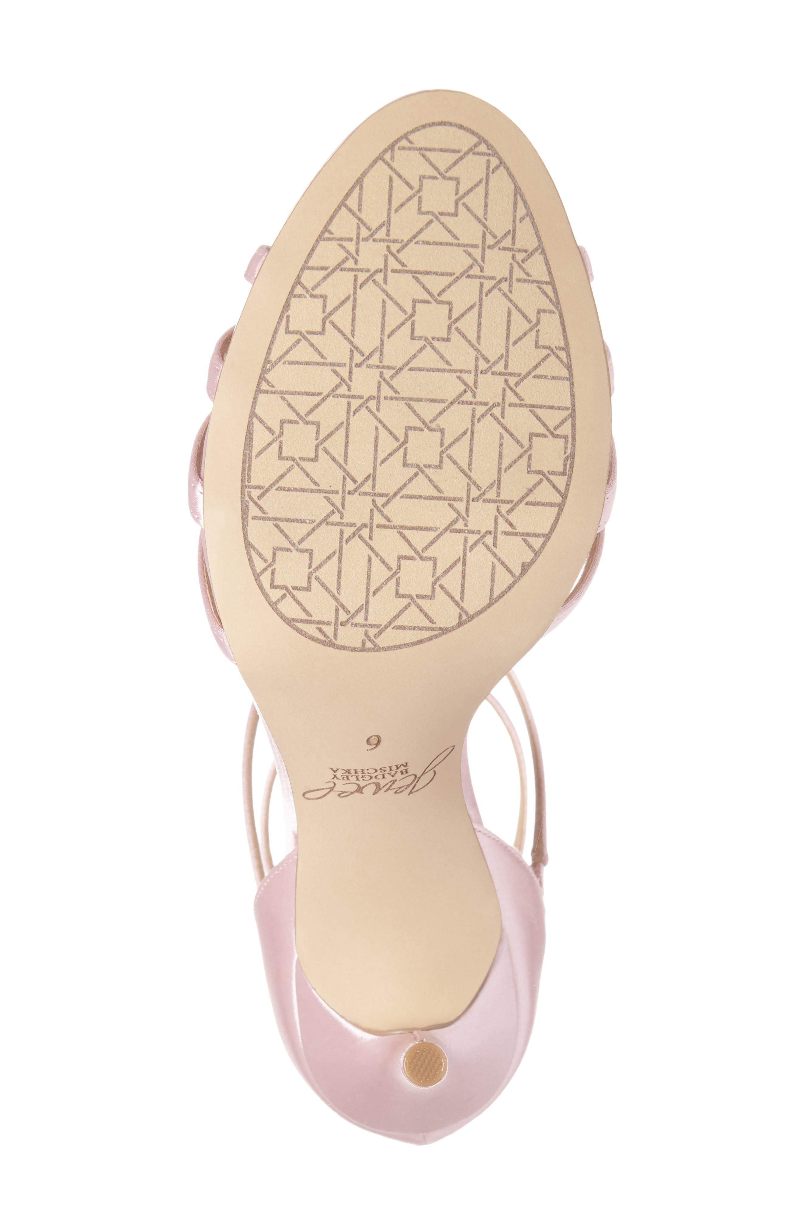 Alternate Image 4  - Jewel Badgley Mischka Hazel Embellished T-Strap Sandal (Women)
