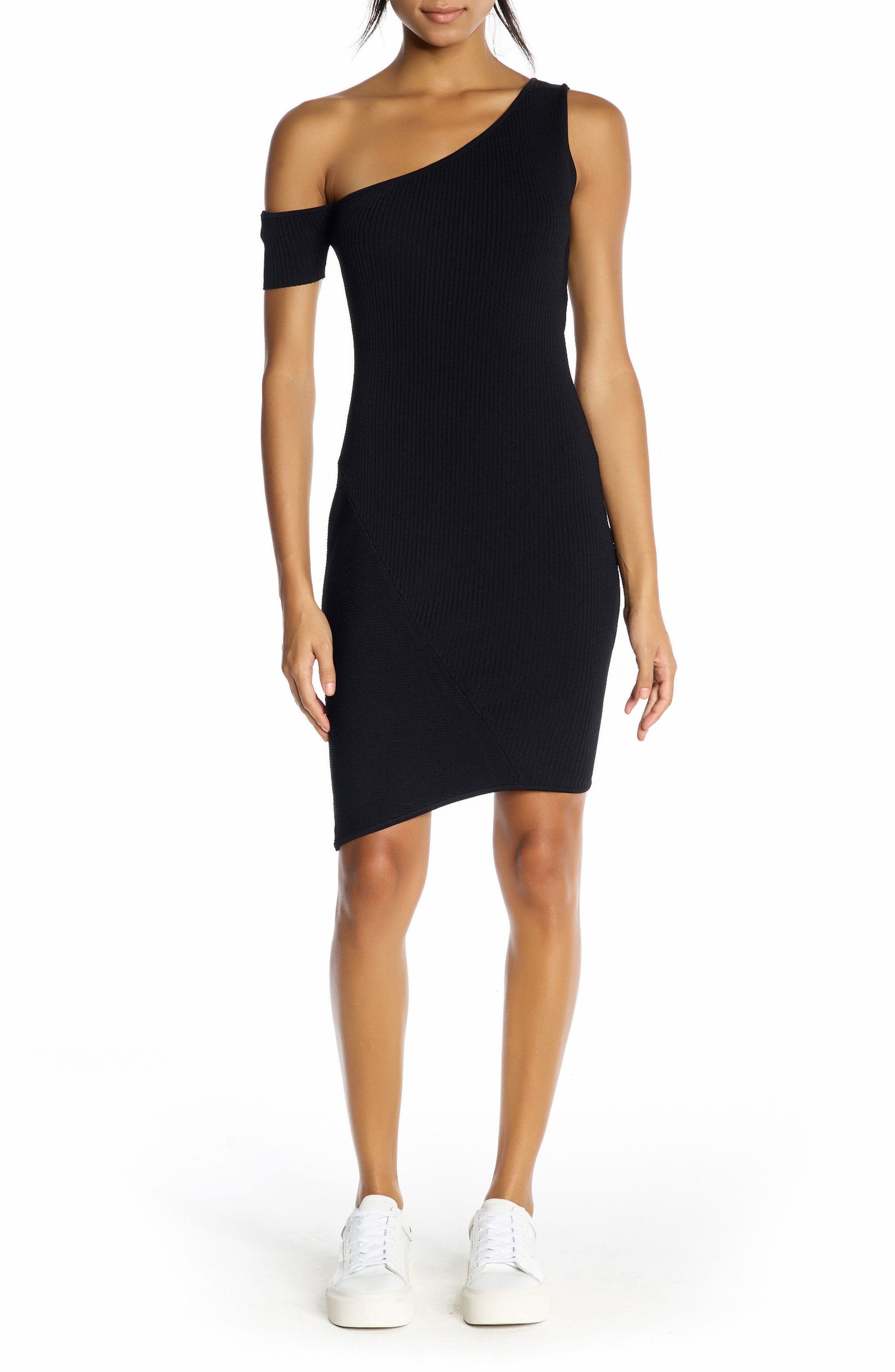 Main Image - KENDALL + KYLIE One-Shoulder Body-Con Dress
