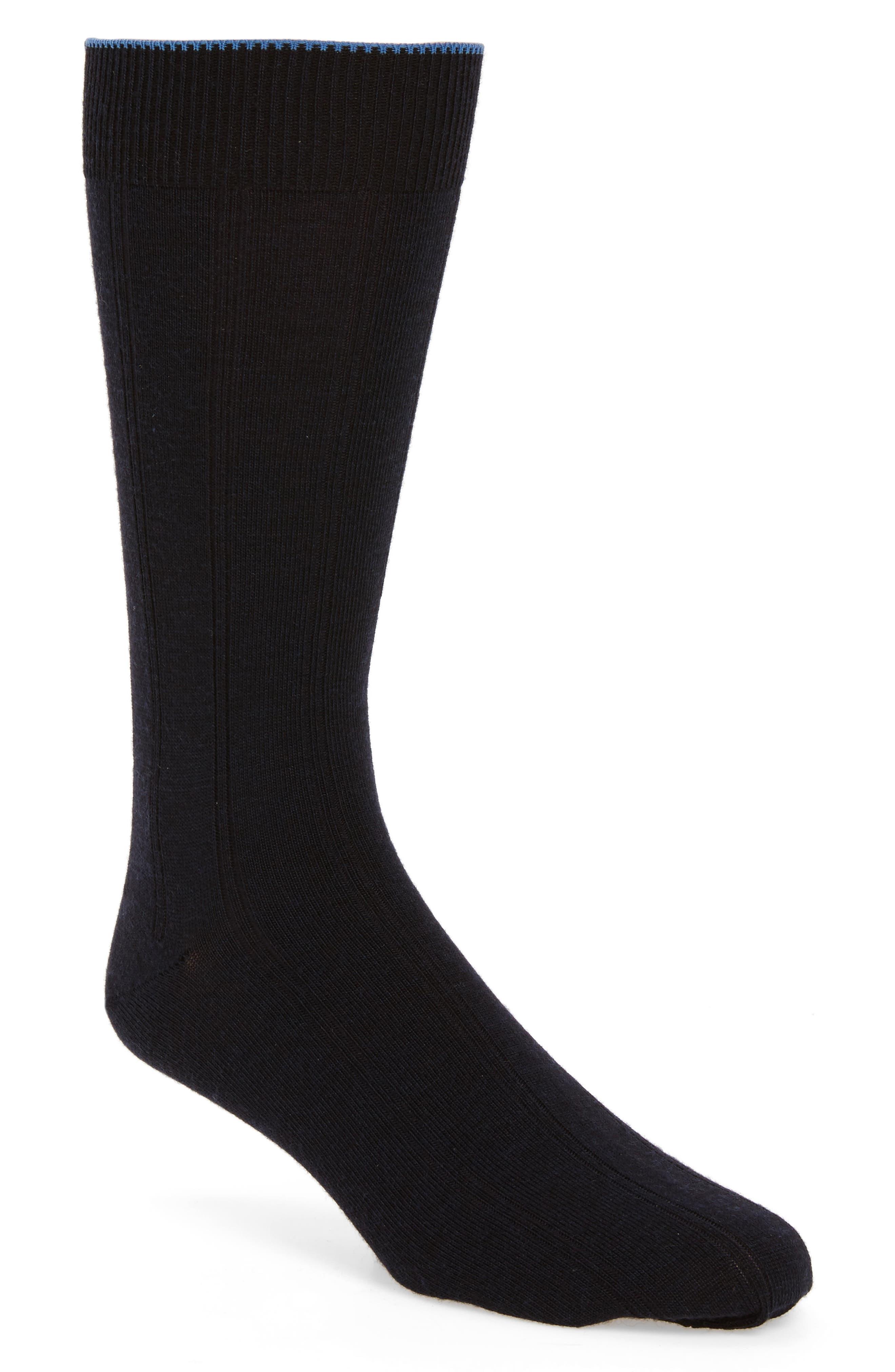 Nordstrom Mens Shop Rib Wool Blend Socks (Men) (3 for $30)