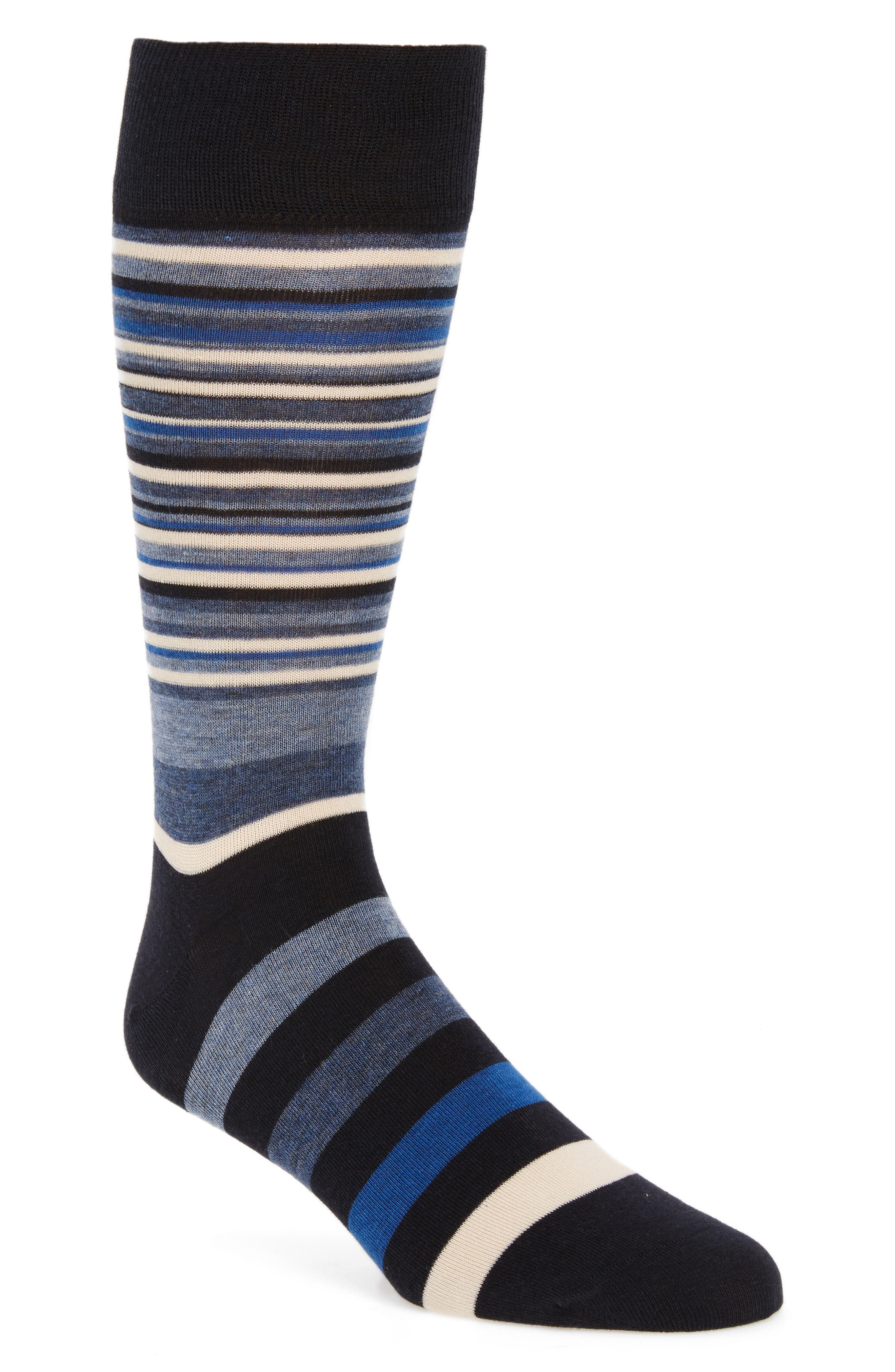 Town Stripe Crew Socks,                             Main thumbnail 1, color,                             Navy/ Astor Blue Stripe