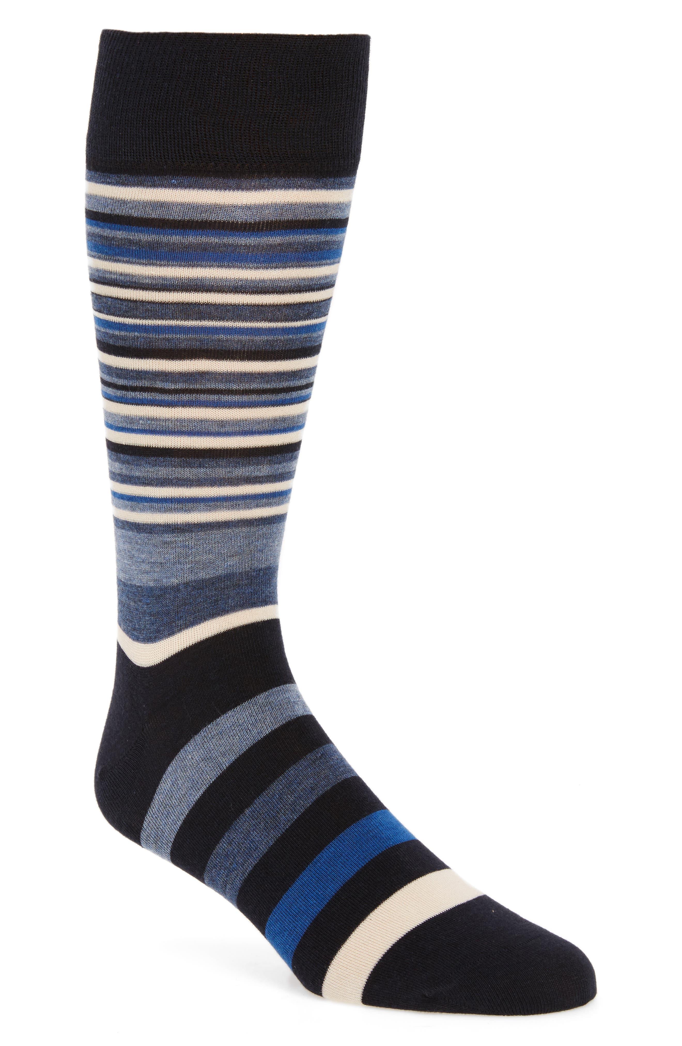 Town Stripe Crew Socks,                         Main,                         color, Navy/ Astor Blue Stripe