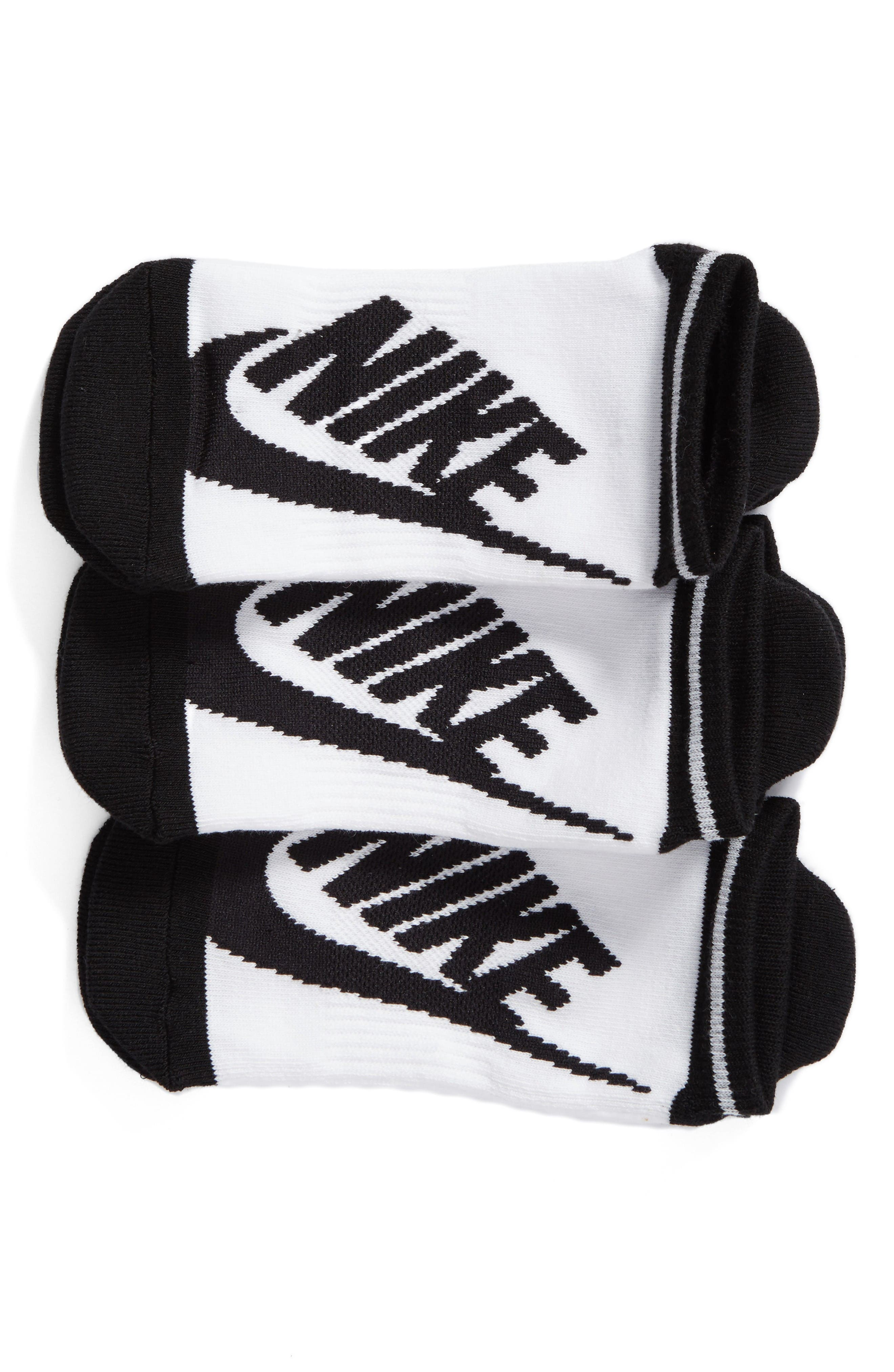 Alternate Image 1 Selected - Nike Stripe 3-Pack No-Show Socks