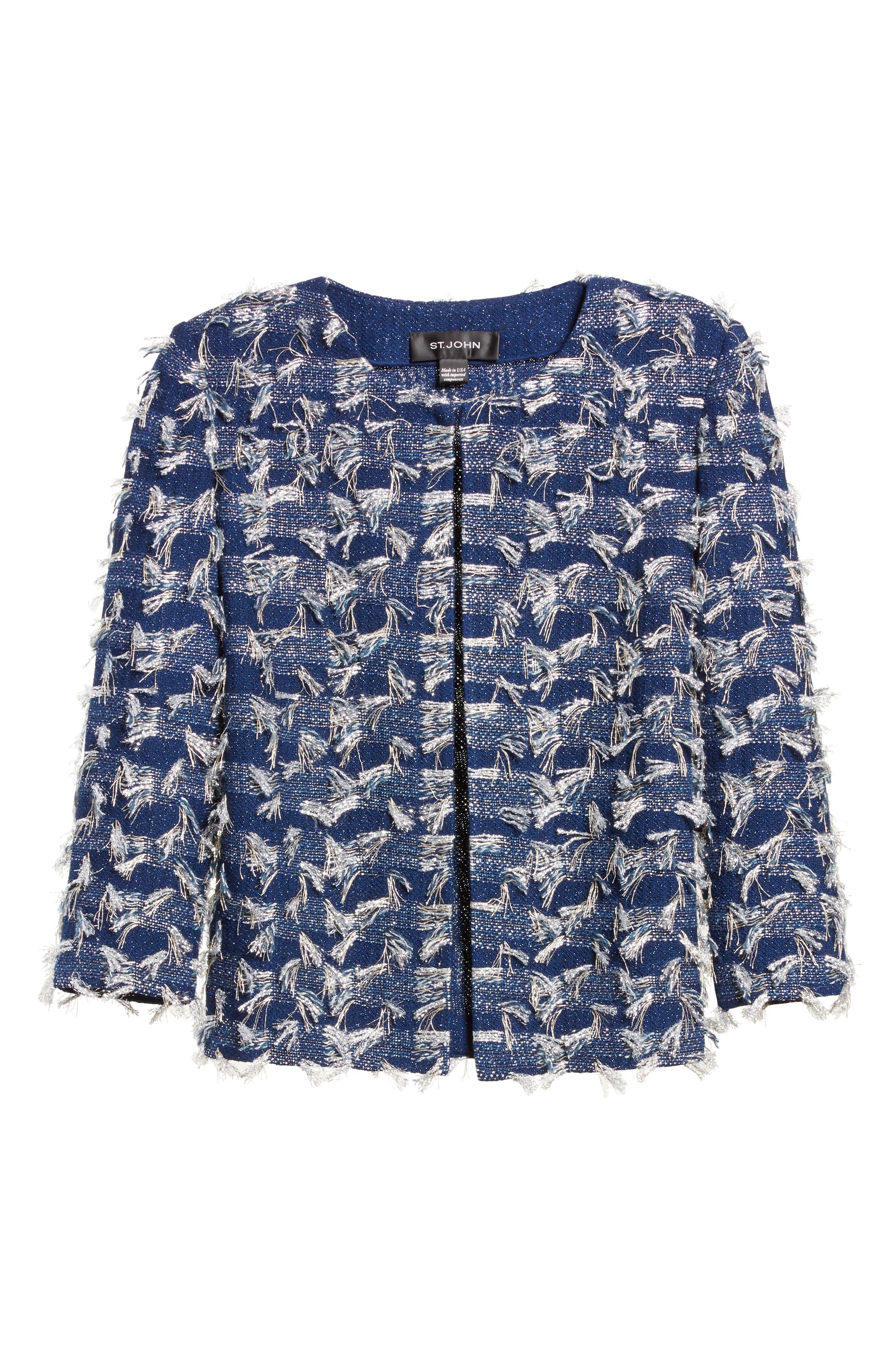 Alternate Image 6  - St. John Collection Lackshan Fil Coupé Tweed Jacket