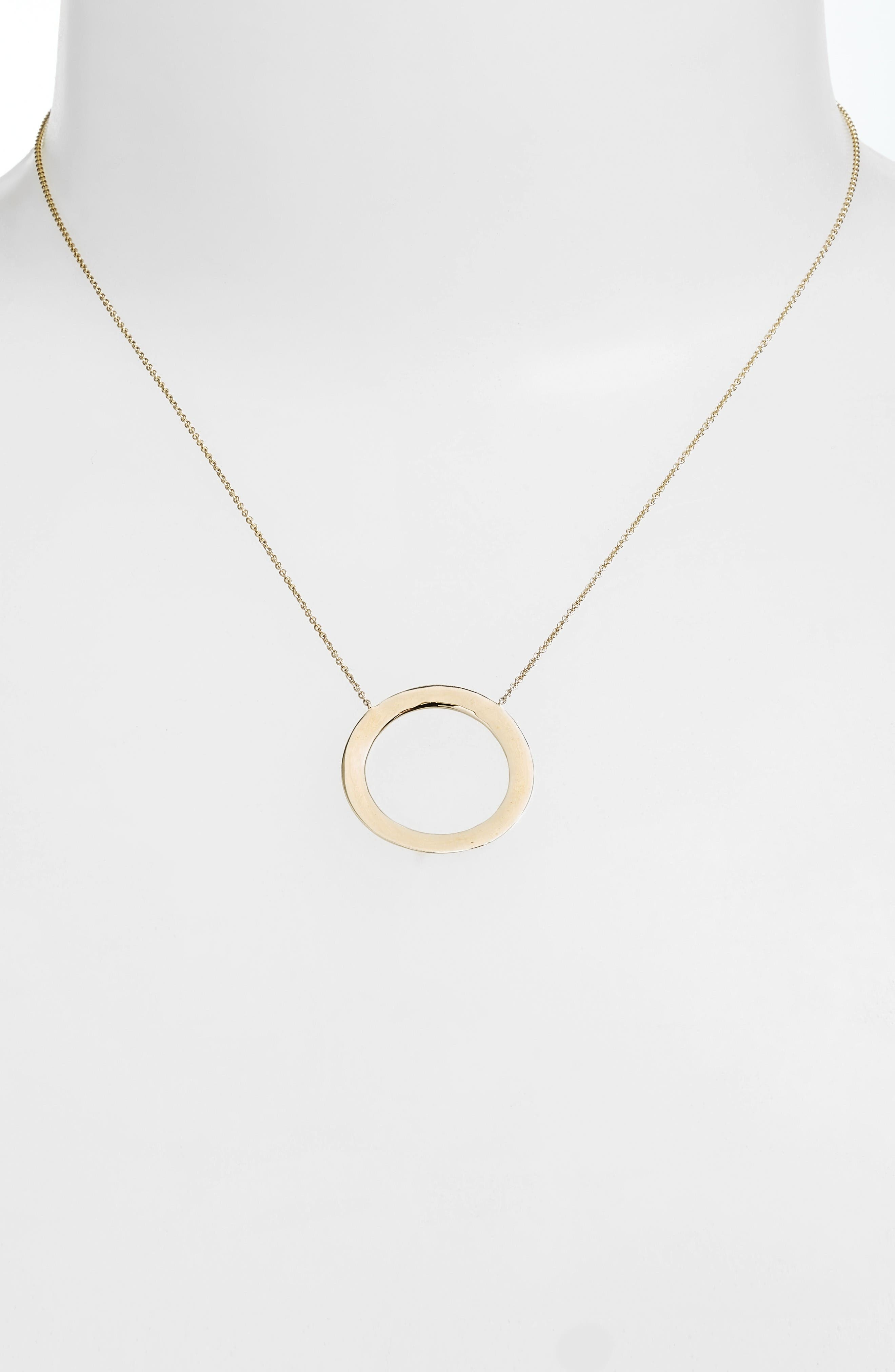Alternate Image 2  - Bony Levy Geo Circle Pendant Necklace (Nordstrom Exclusive)