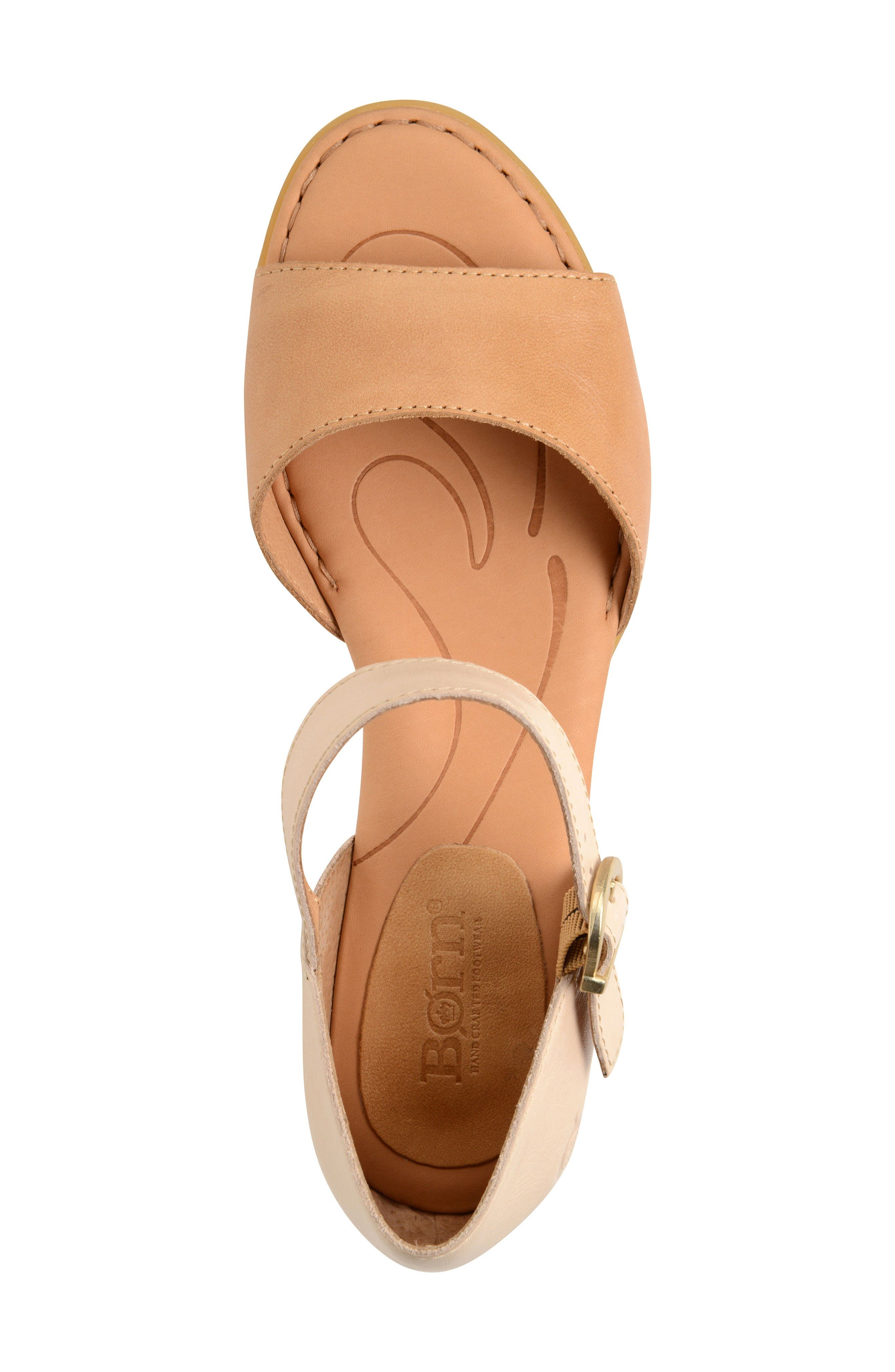 Cairo d'Orsay Sandal,                             Alternate thumbnail 3, color,                             Natural Leather