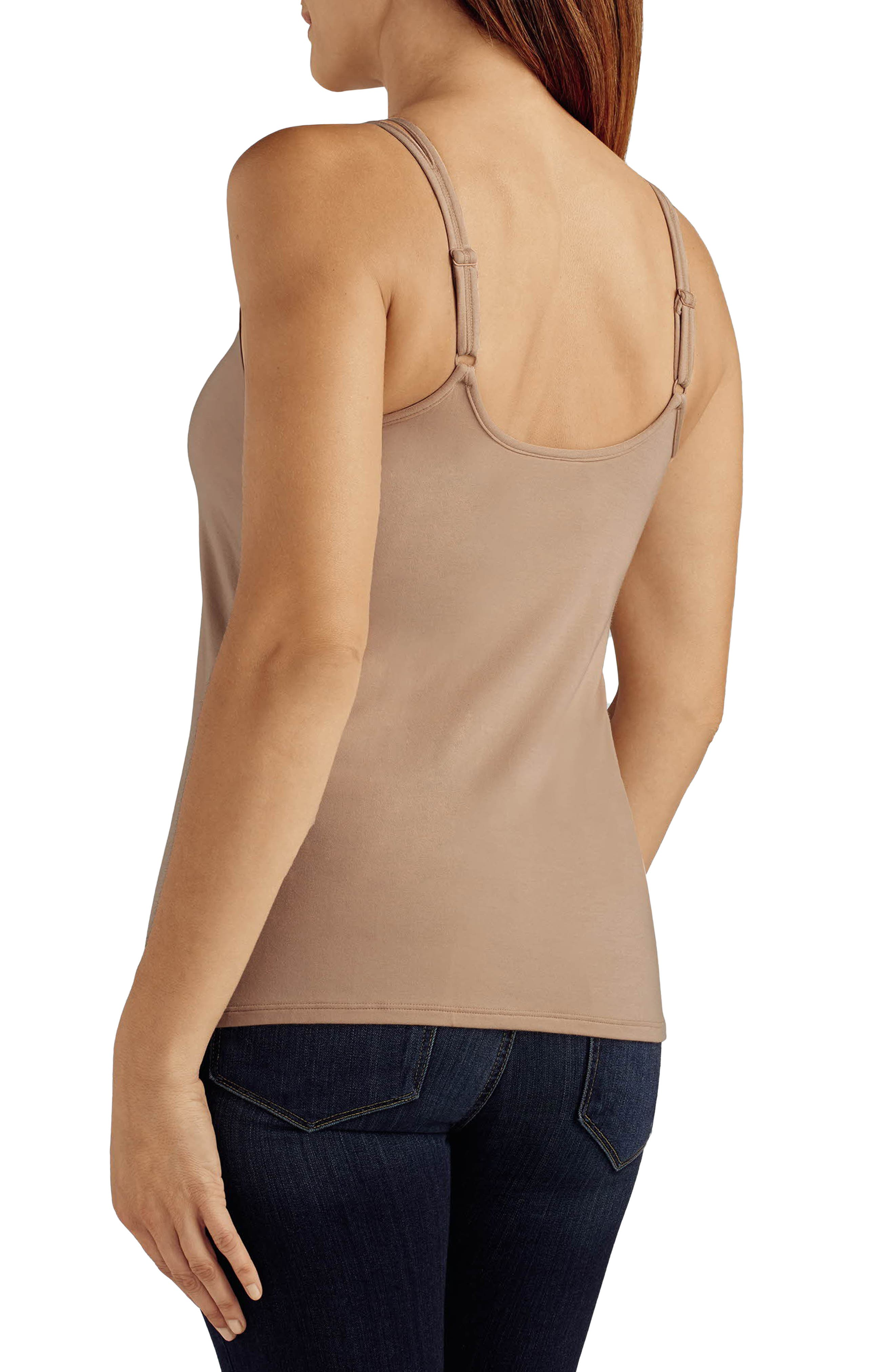 'Valetta' Pocketed Tank,                             Alternate thumbnail 2, color,                             Nude