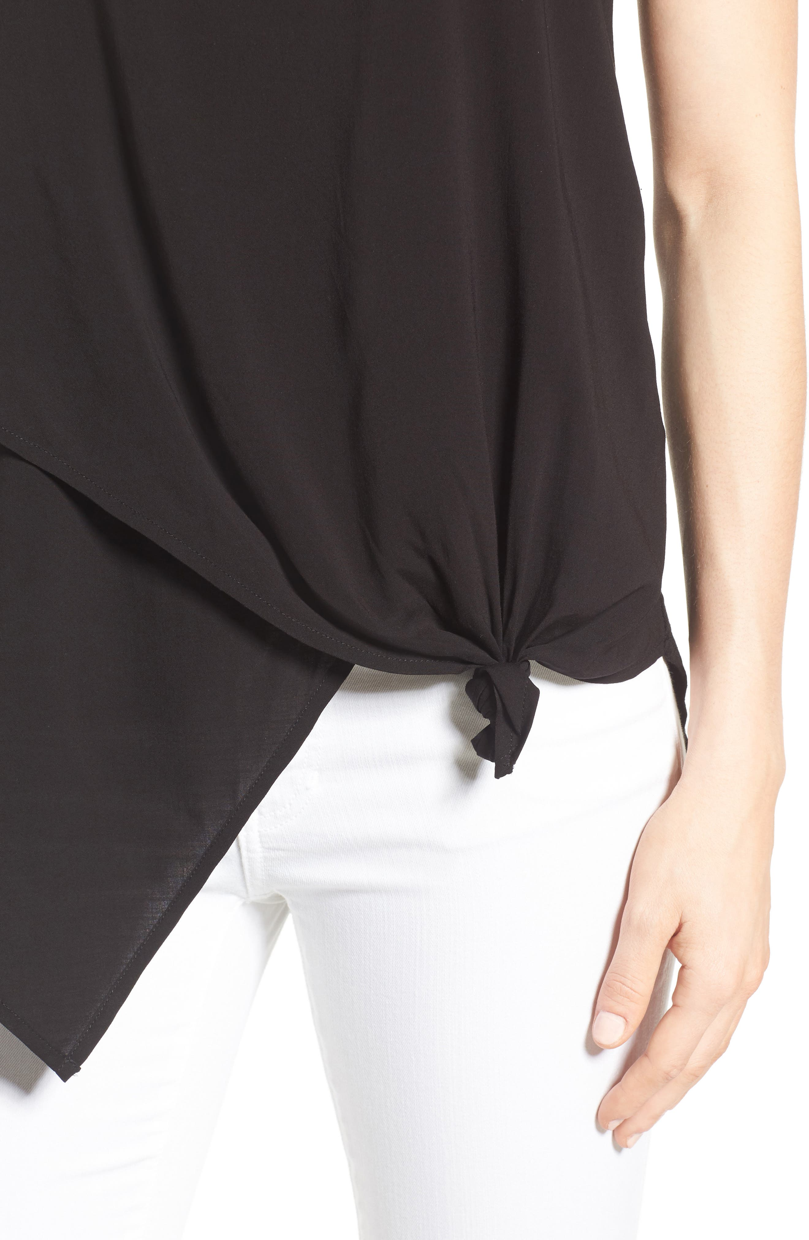 Alternate Image 4  - Wit & Wisdom Knotted Asymmetrical Tank (Nordstrom Exclusive)