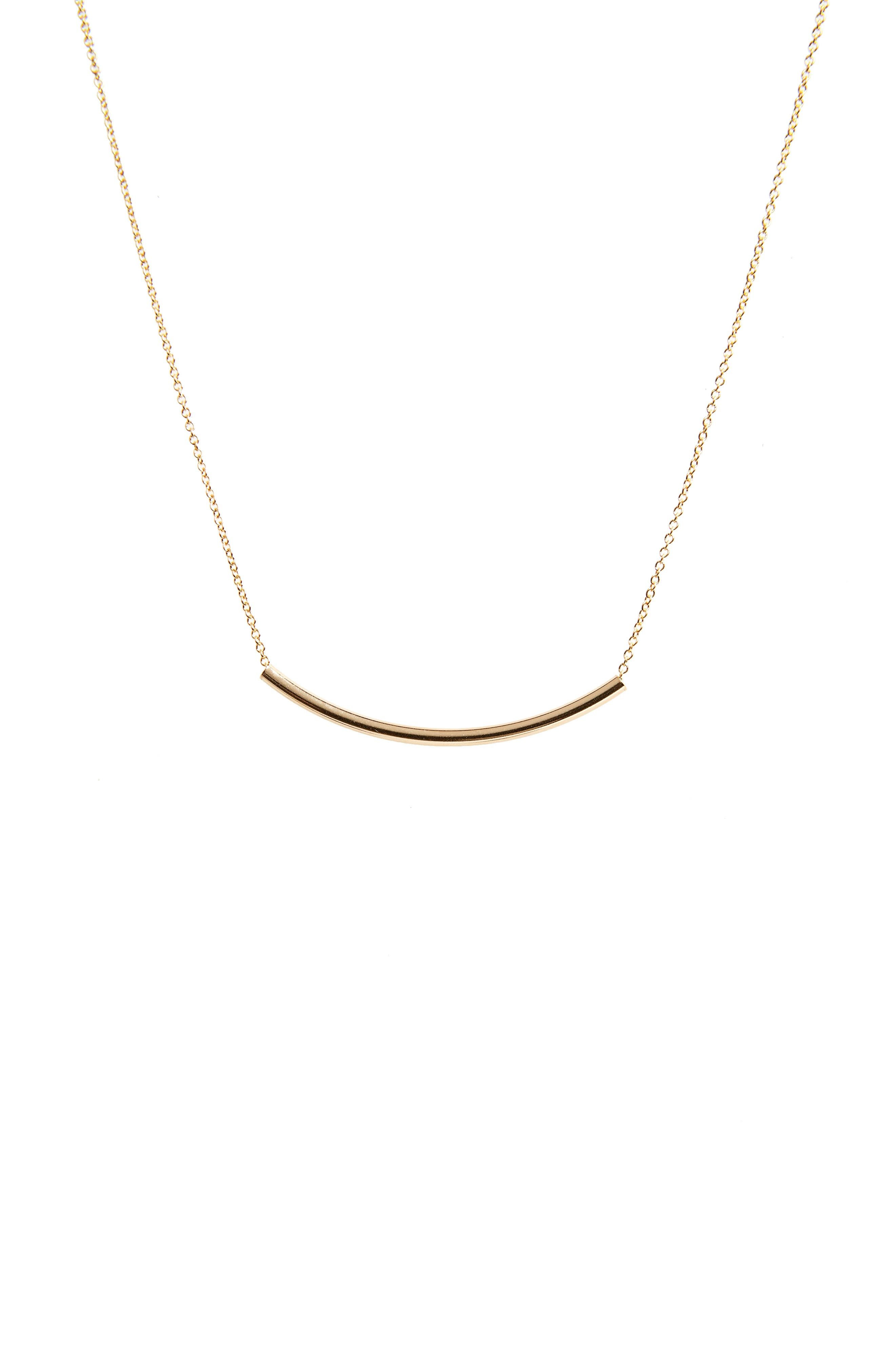 Balance Tube Chain Necklace,                             Alternate thumbnail 2, color,                             Gold