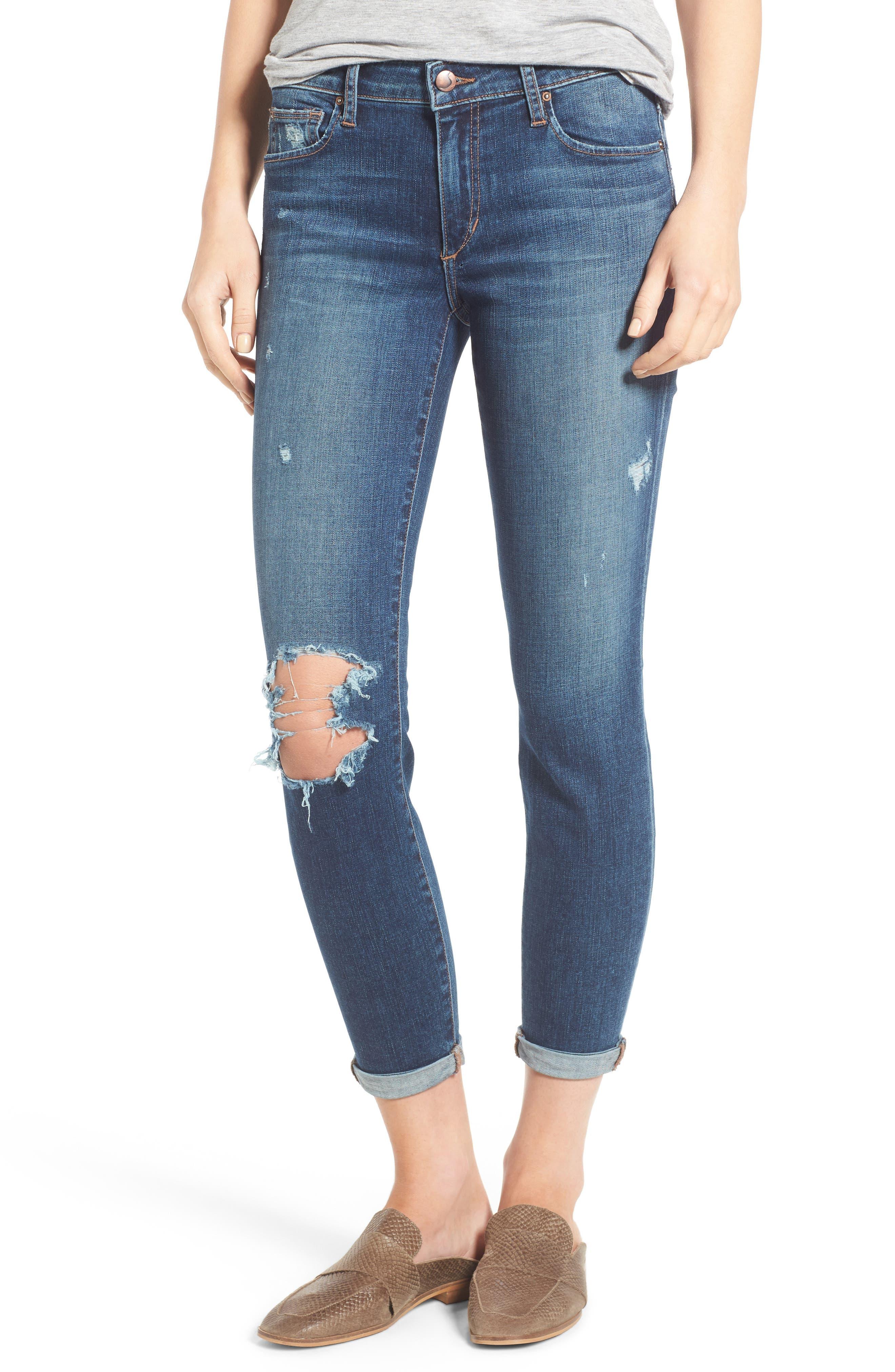 Alternate Image 1 Selected - Joe's Andie Skinny Crop Jeans (Giada)