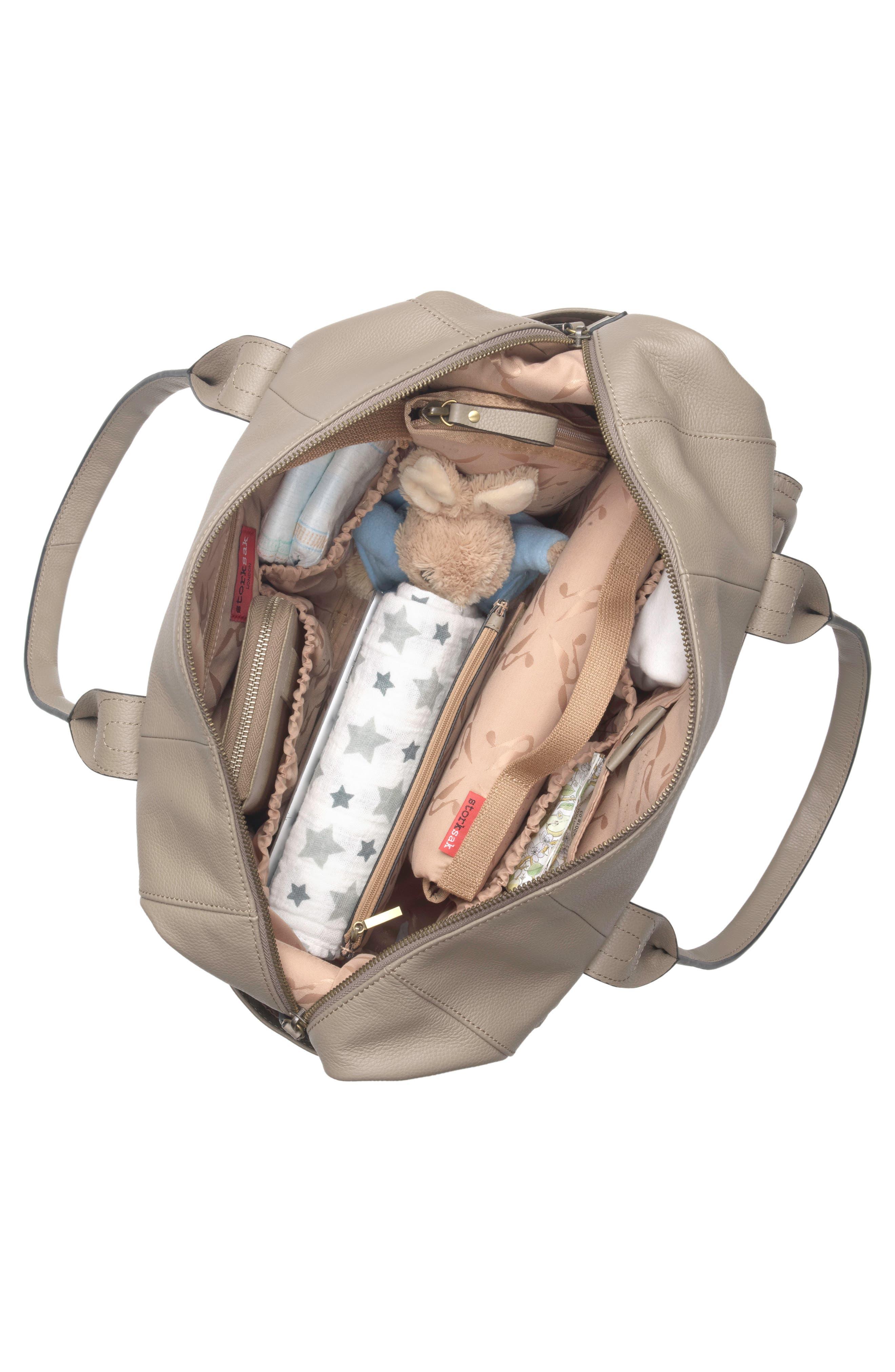 Alternate Image 3  - Storsak Leather Diaper Bag