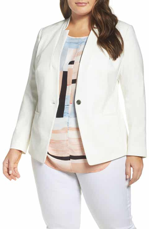 Vince Camuto One-Button Blazer (Plus Size) On sale