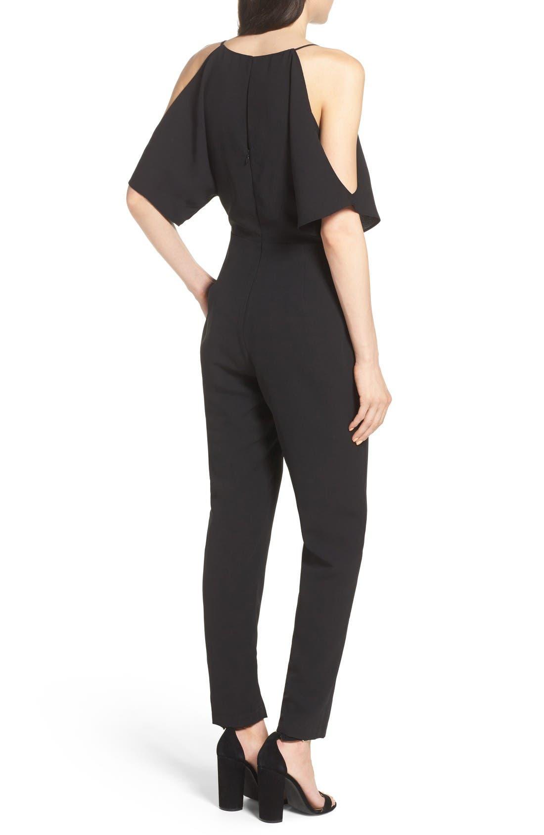 Alternate Image 2  - Adelyn Rae Cold Shoulder Woven Jumpsuit