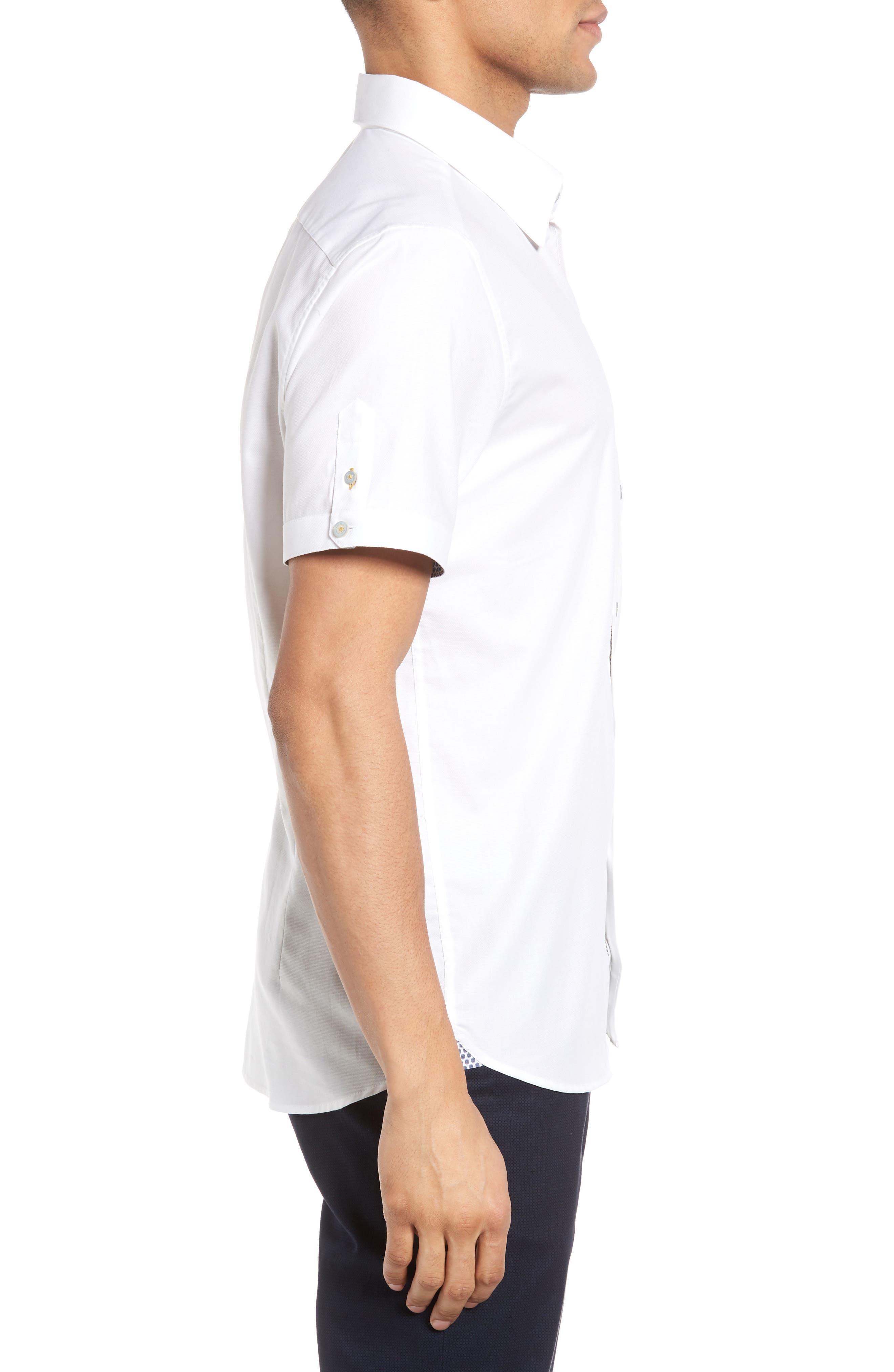 Alternate Image 3  - Ted Baker London Wooey Extra Slim Fit Mini Texture Sport Shirt