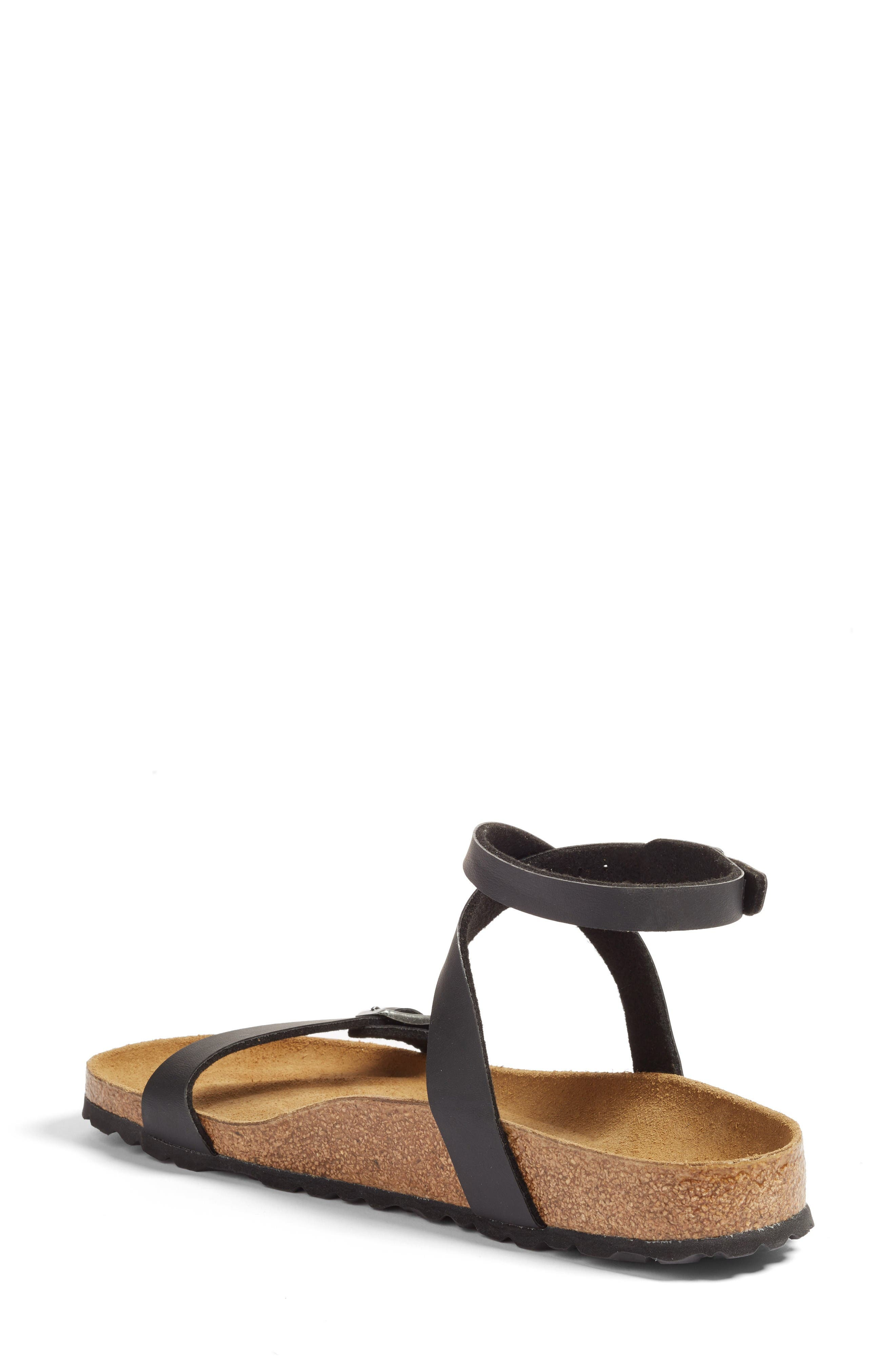 Daloa Ankle Strap Sandal,                             Alternate thumbnail 2, color,                             Black