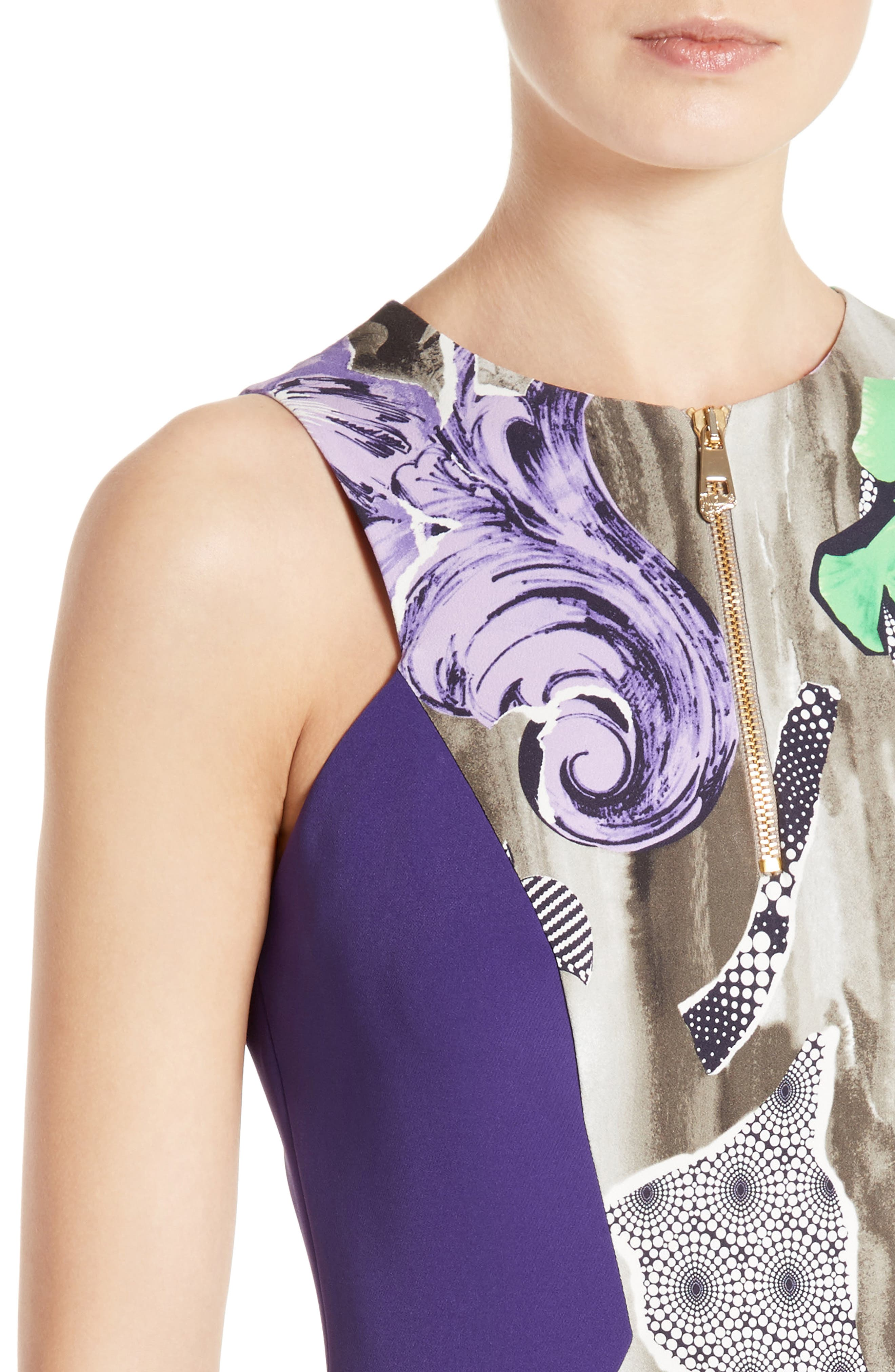 Alternate Image 6  - Versace Collection Print Sheath Dress