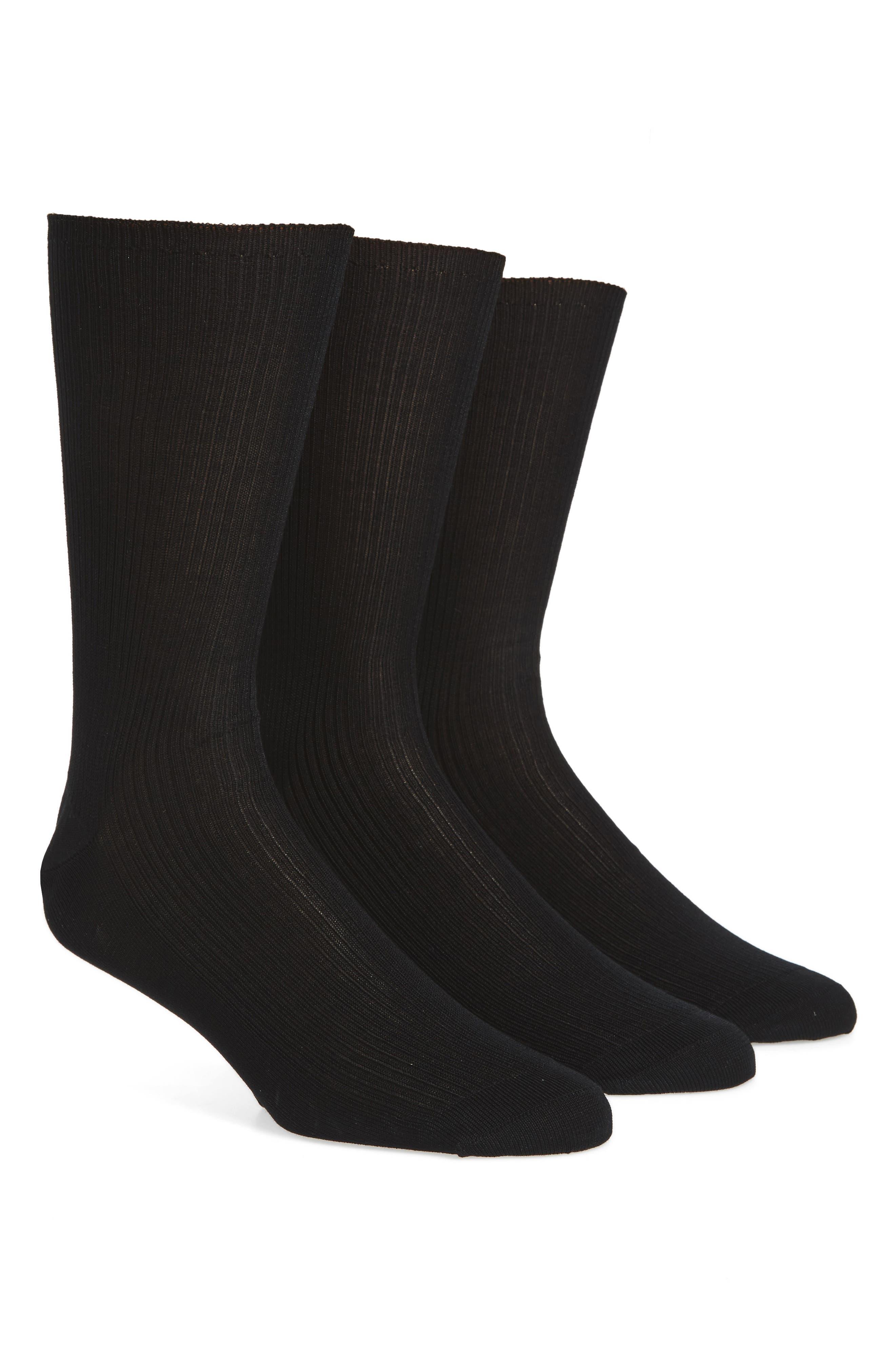 Calvin Klein Cotton Blend Dress Socks (3-Pack)