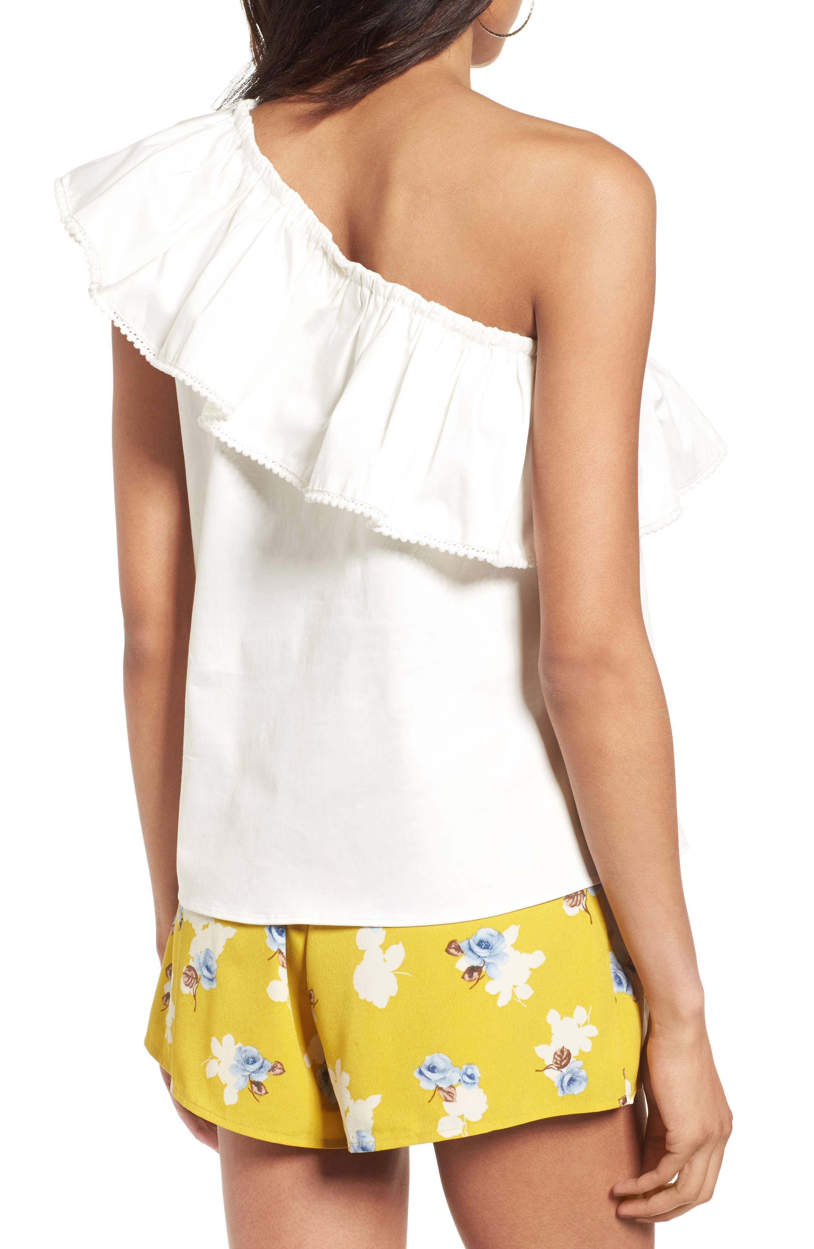 Alternate Image 2  - devlin Vanessa One-Shoulder Blouse