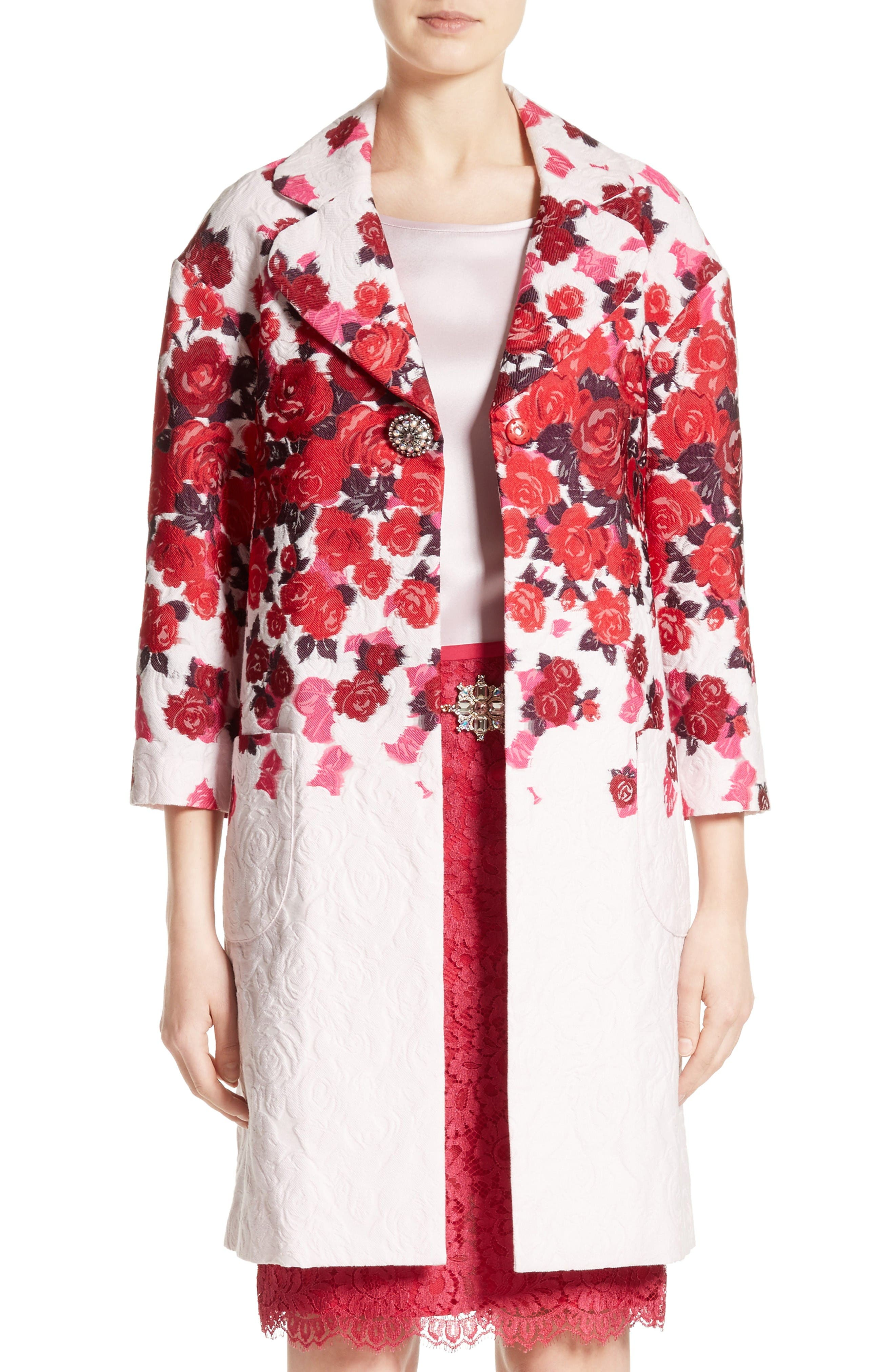 ST. JOHN COLLECTION Mira Floral Jacquard Topper