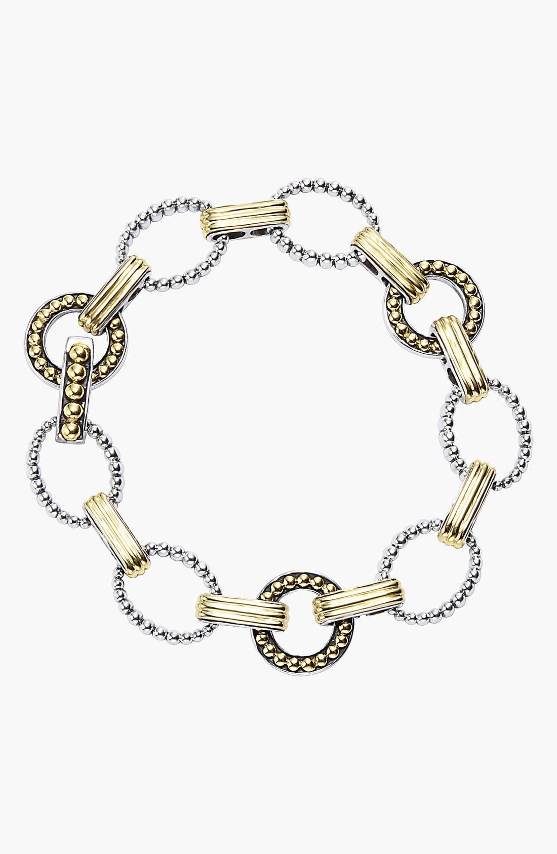 'Enso' Two-Tone Link Bracelet,                             Main thumbnail 1, color,                             Silver/ Gold