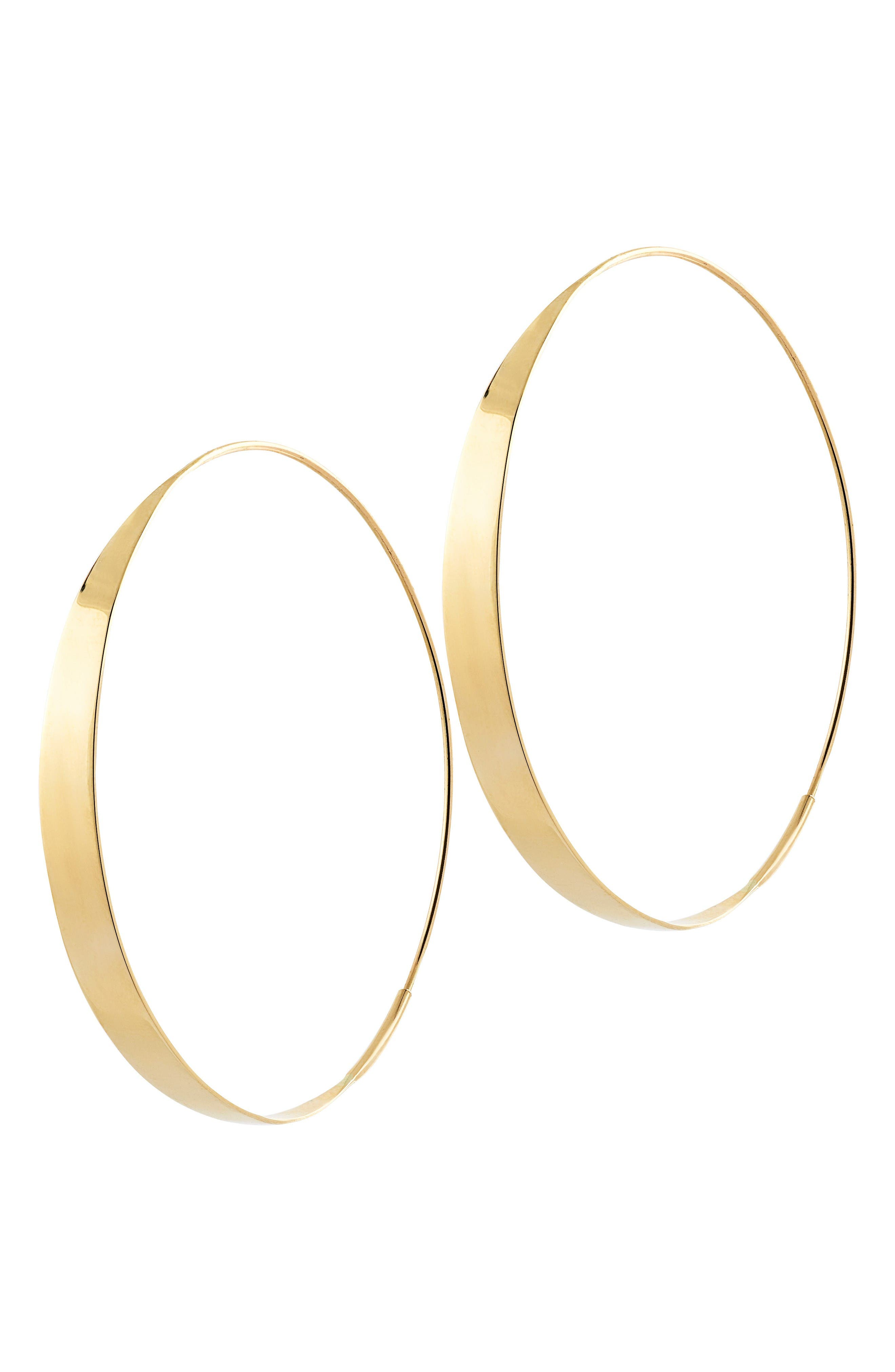 Bond Endless Hoop Earrings,                             Main thumbnail 1, color,                             Yellow Gold