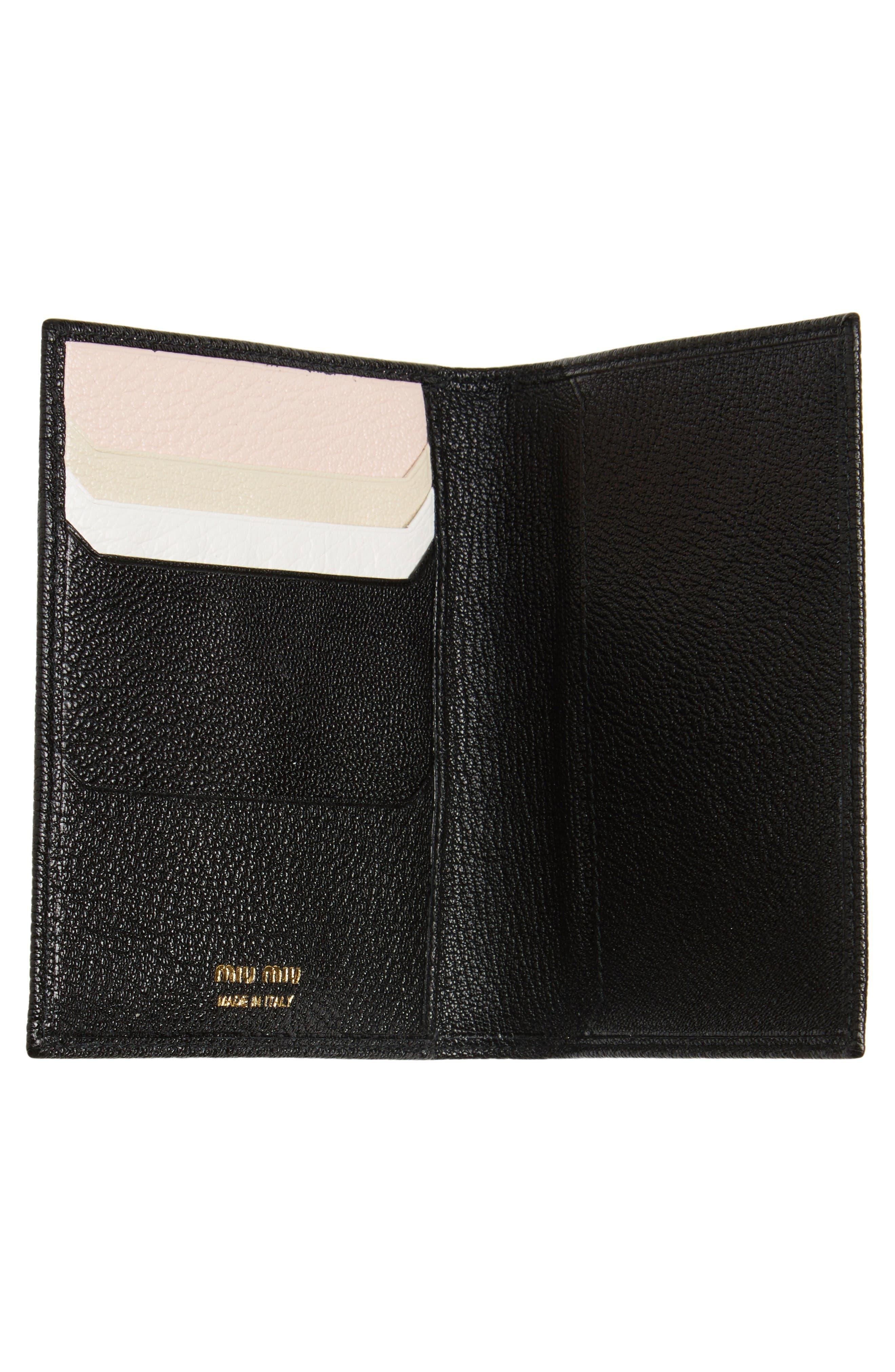 Alternate Image 2  - Miu Miu Leather Passport Case
