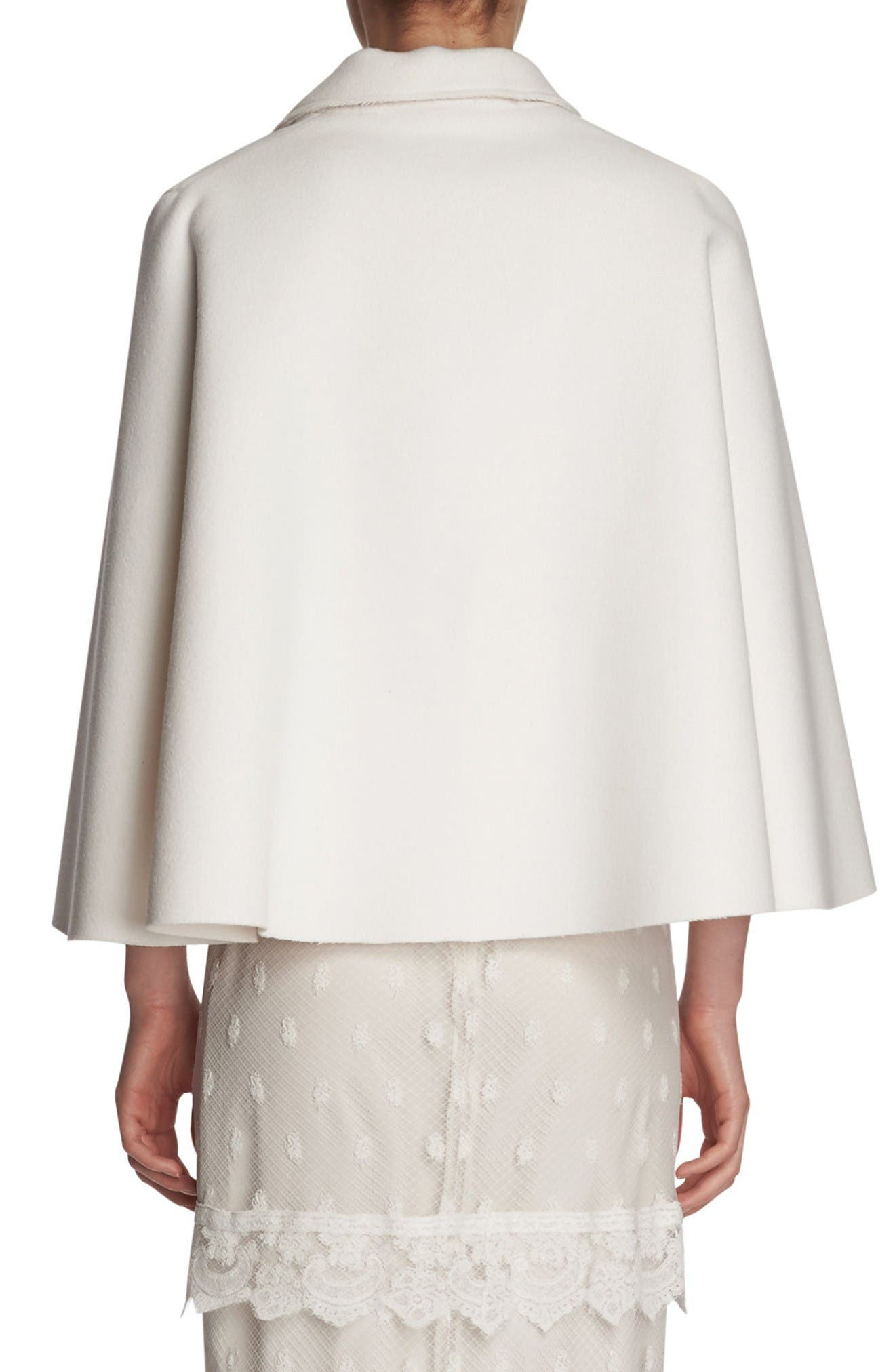 Alternate Image 2  - Burberry Wool Cape Jacket
