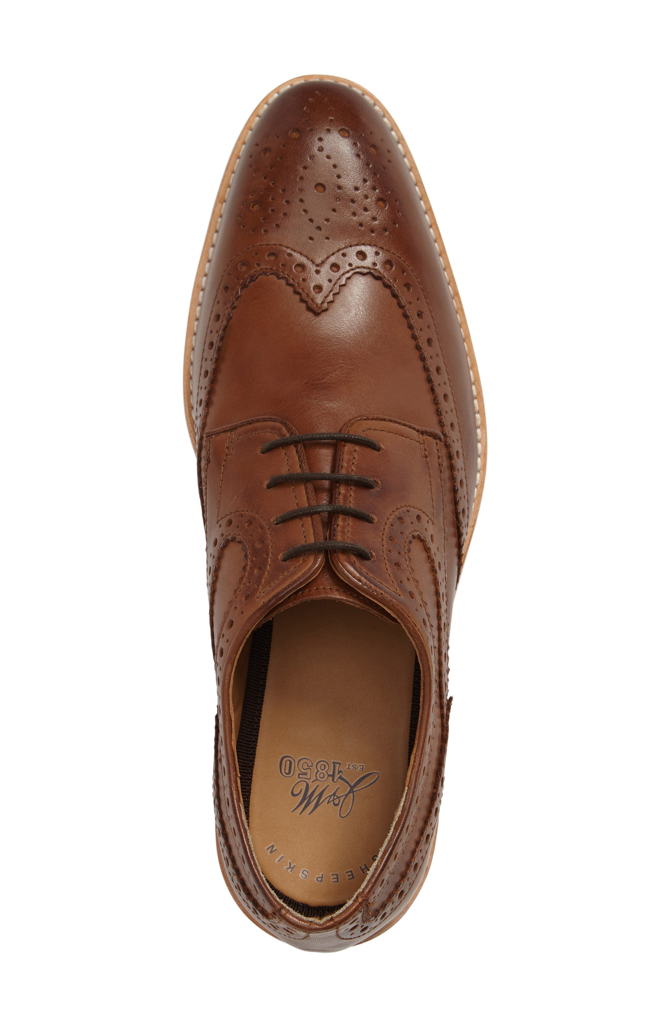 Vance Wingtip Oxford,                             Alternate thumbnail 3, color,                             Tan Leather