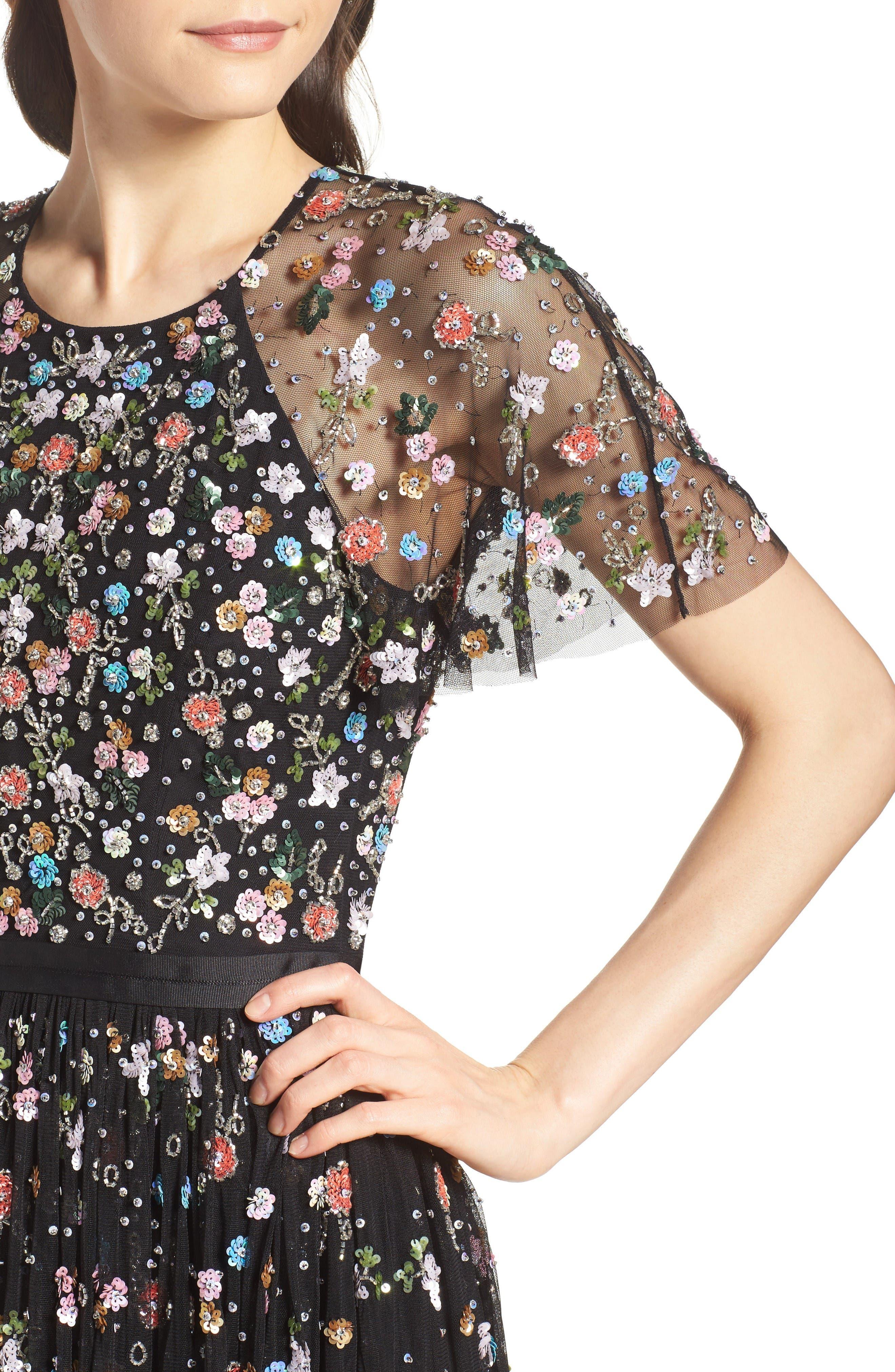 Alternate Image 4  - Needle & Thread Starburst Midi Dress