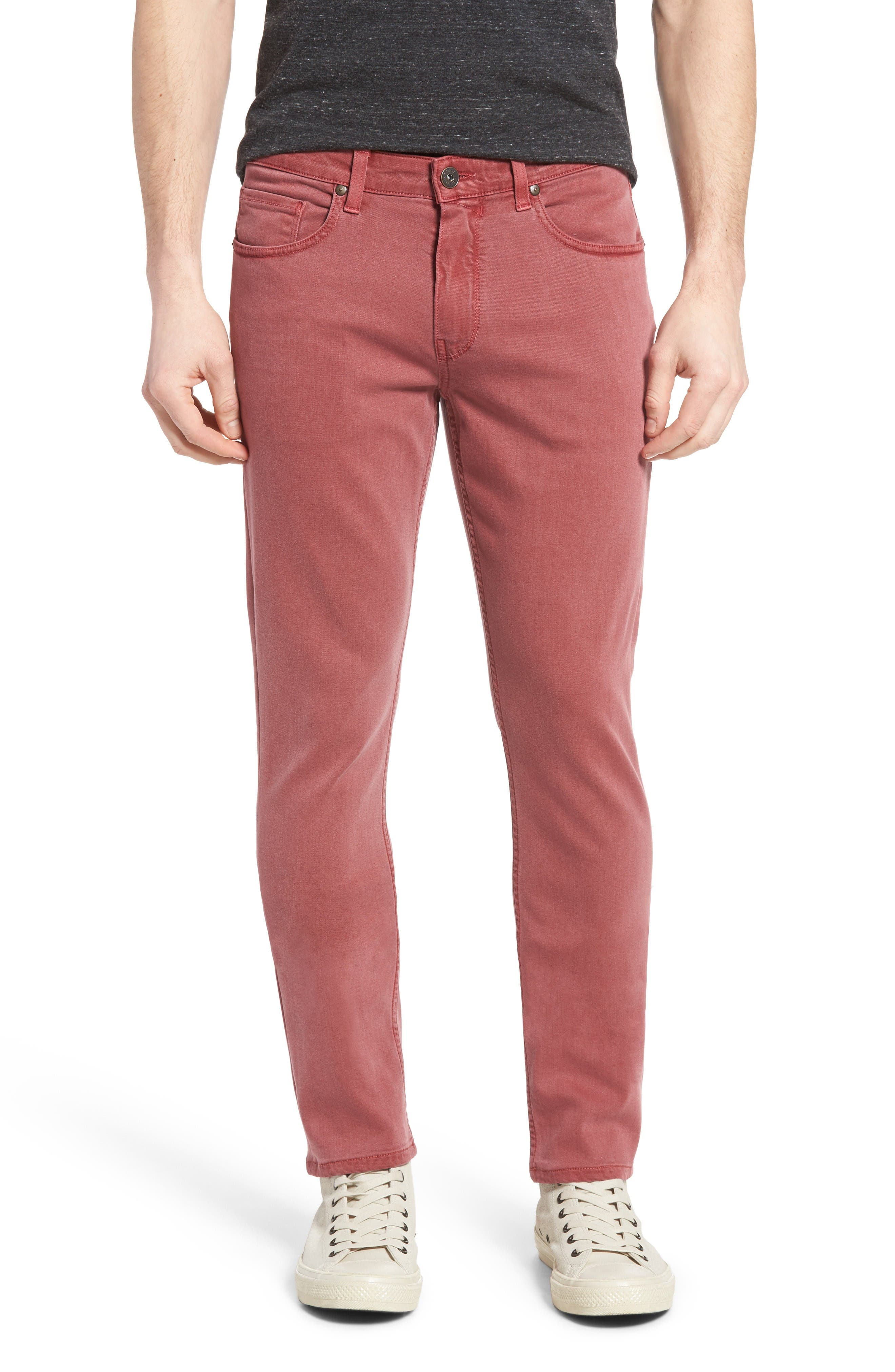 Main Image - PAIGE Transcend - Lennox Slim Fit Jeans (Radish)