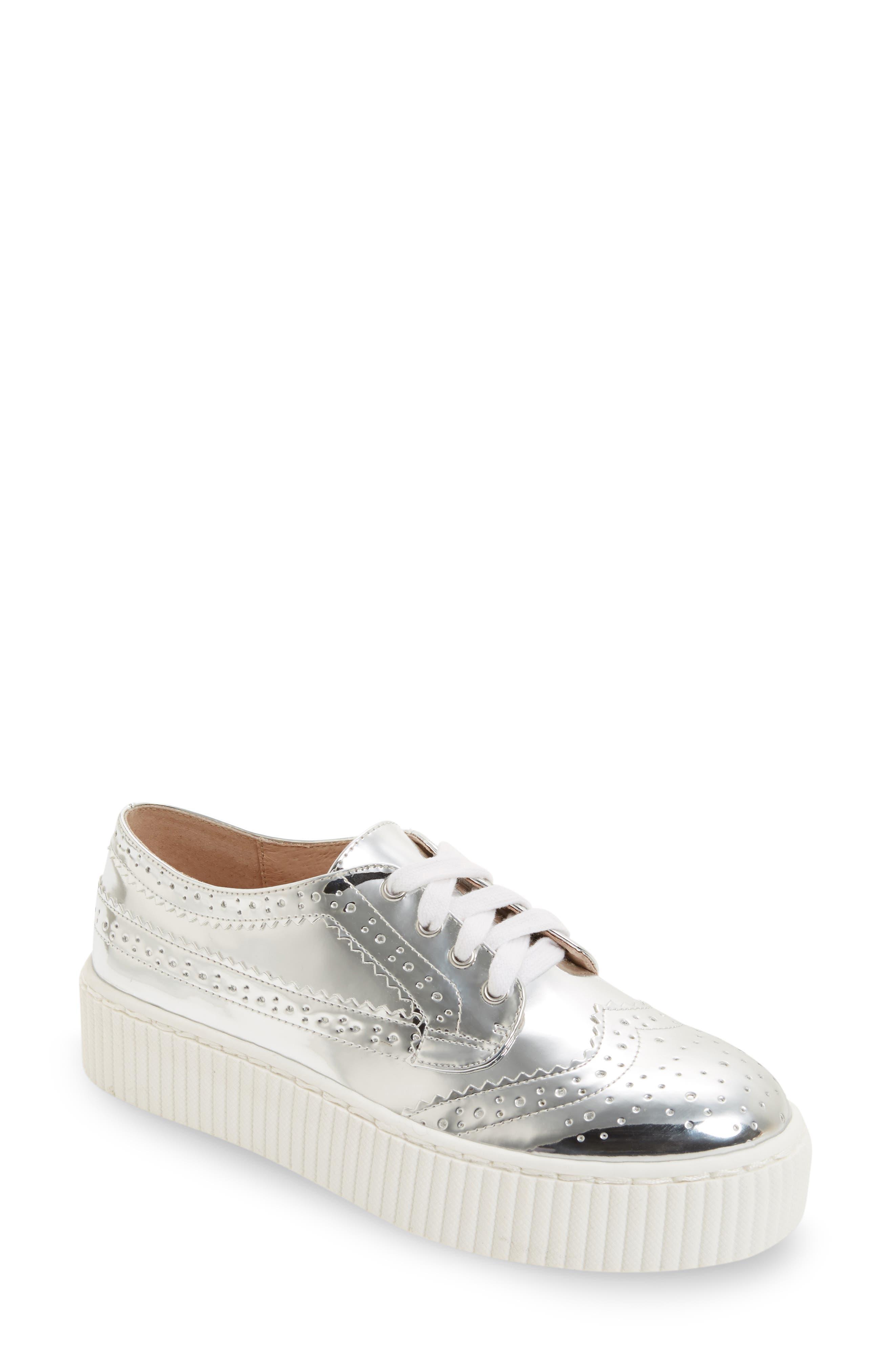 Dilys Platform Sneaker,                             Main thumbnail 1, color,                             Silver