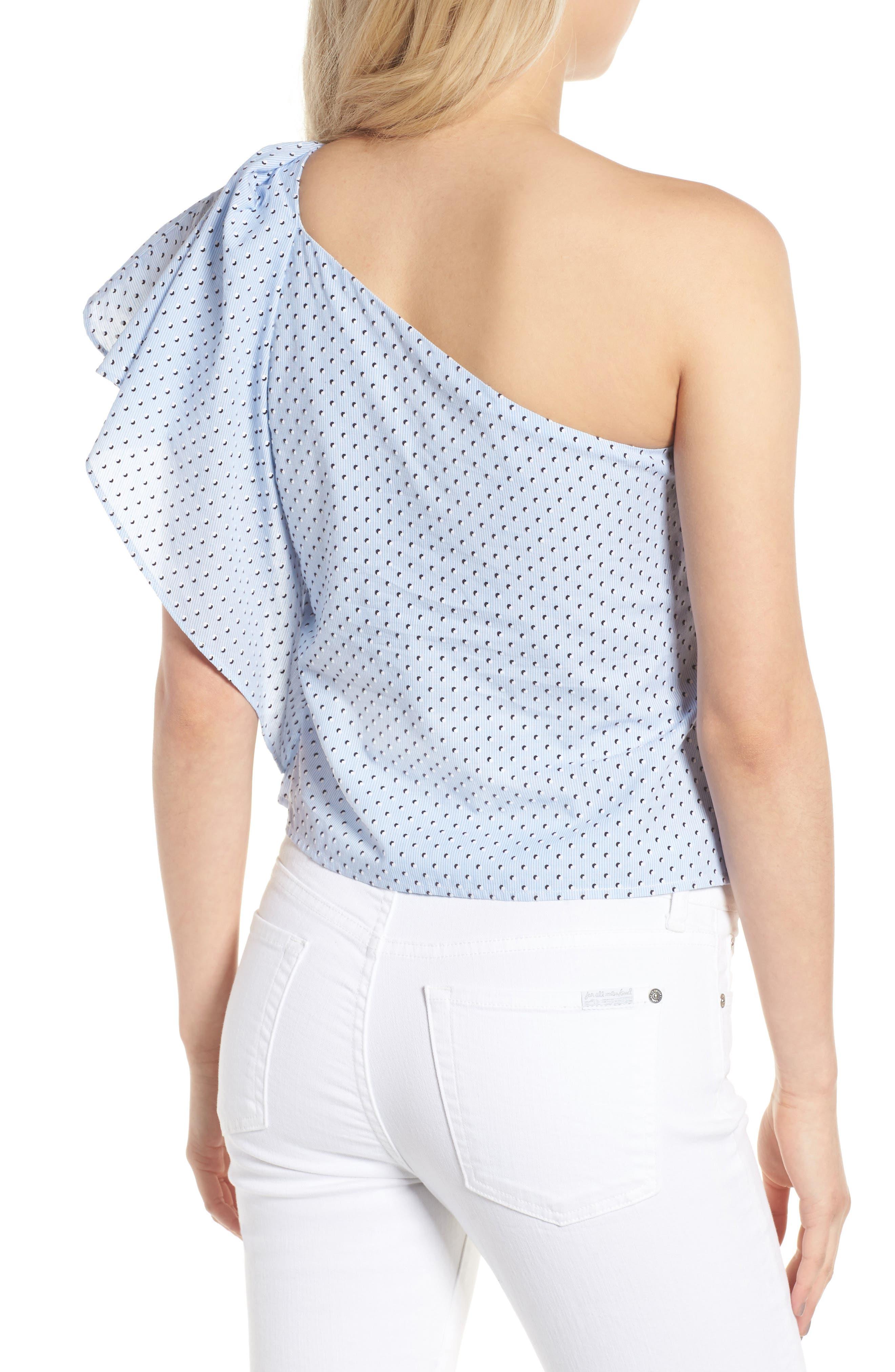 Livia One-Shoulder Top,                             Alternate thumbnail 2, color,                             Baby Blue