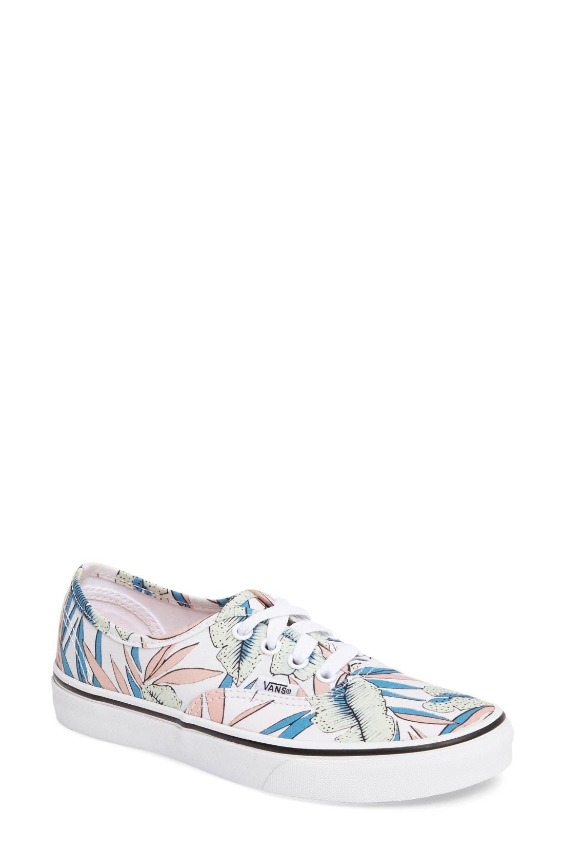 Alternate Image 1 Selected - Vans 'Authentic' Canvas Sneaker (Women)