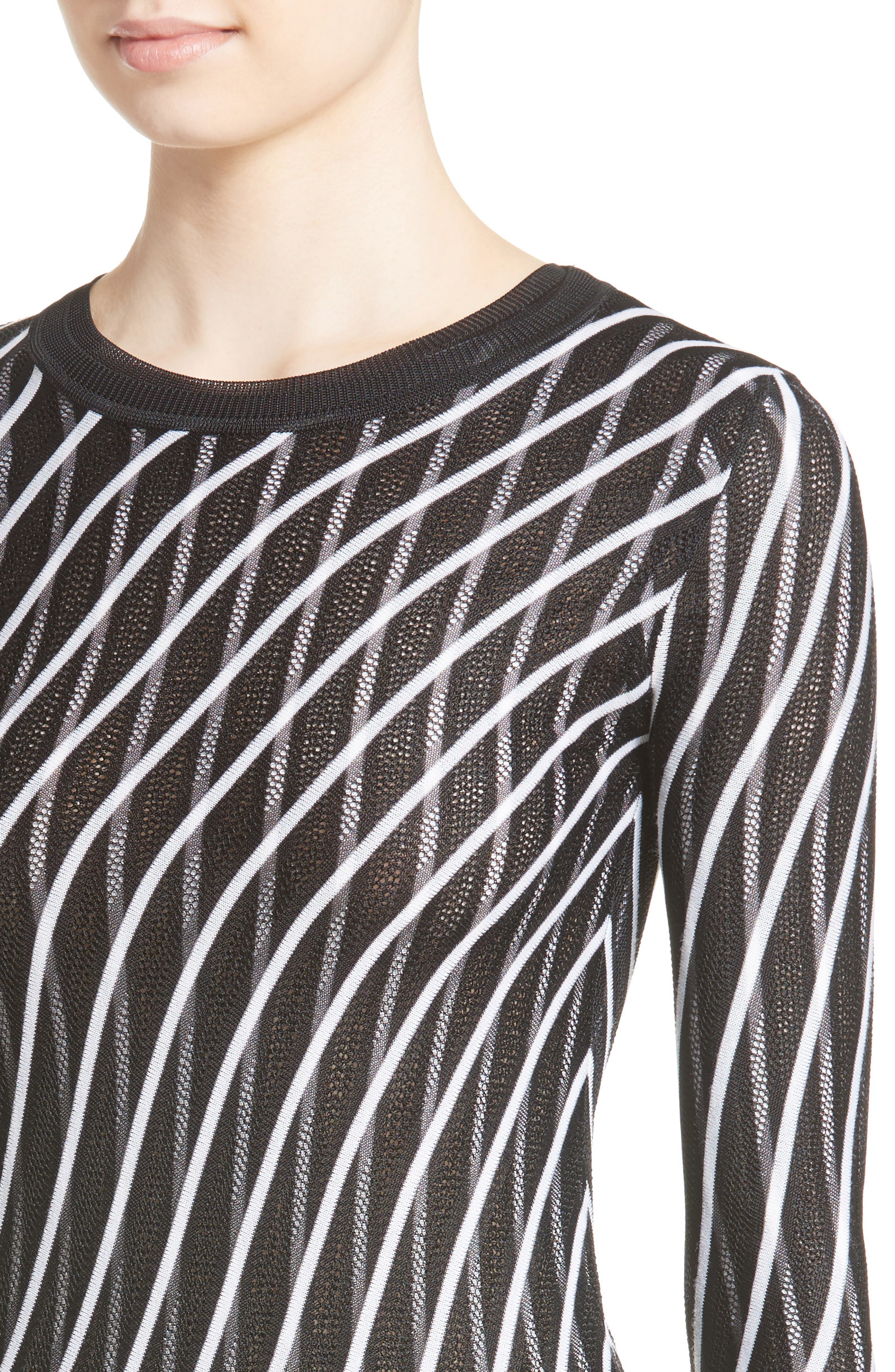 Alternate Image 4  - Diane von Furstenberg Double Layer Stripe Sweater Dress