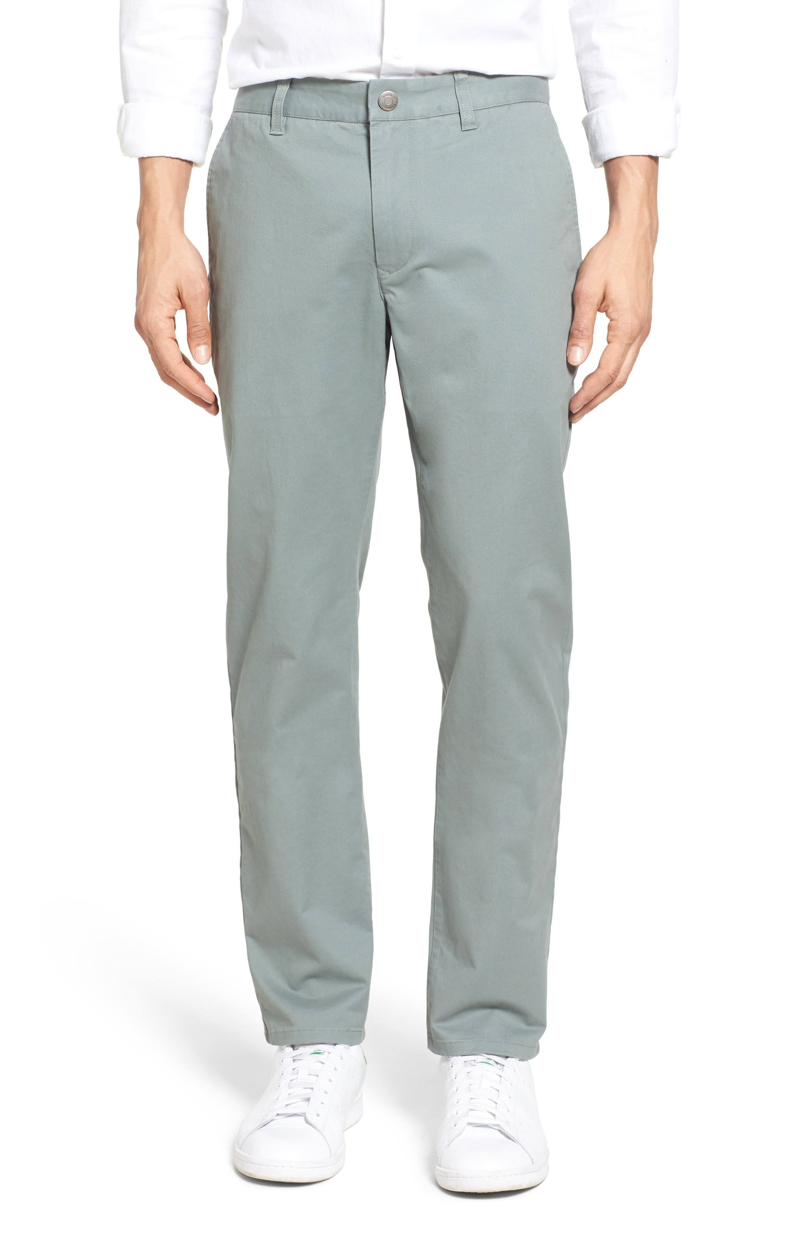 Slim Fit Stretch Washed Chinos,                         Main,                         color, Eucalyptus
