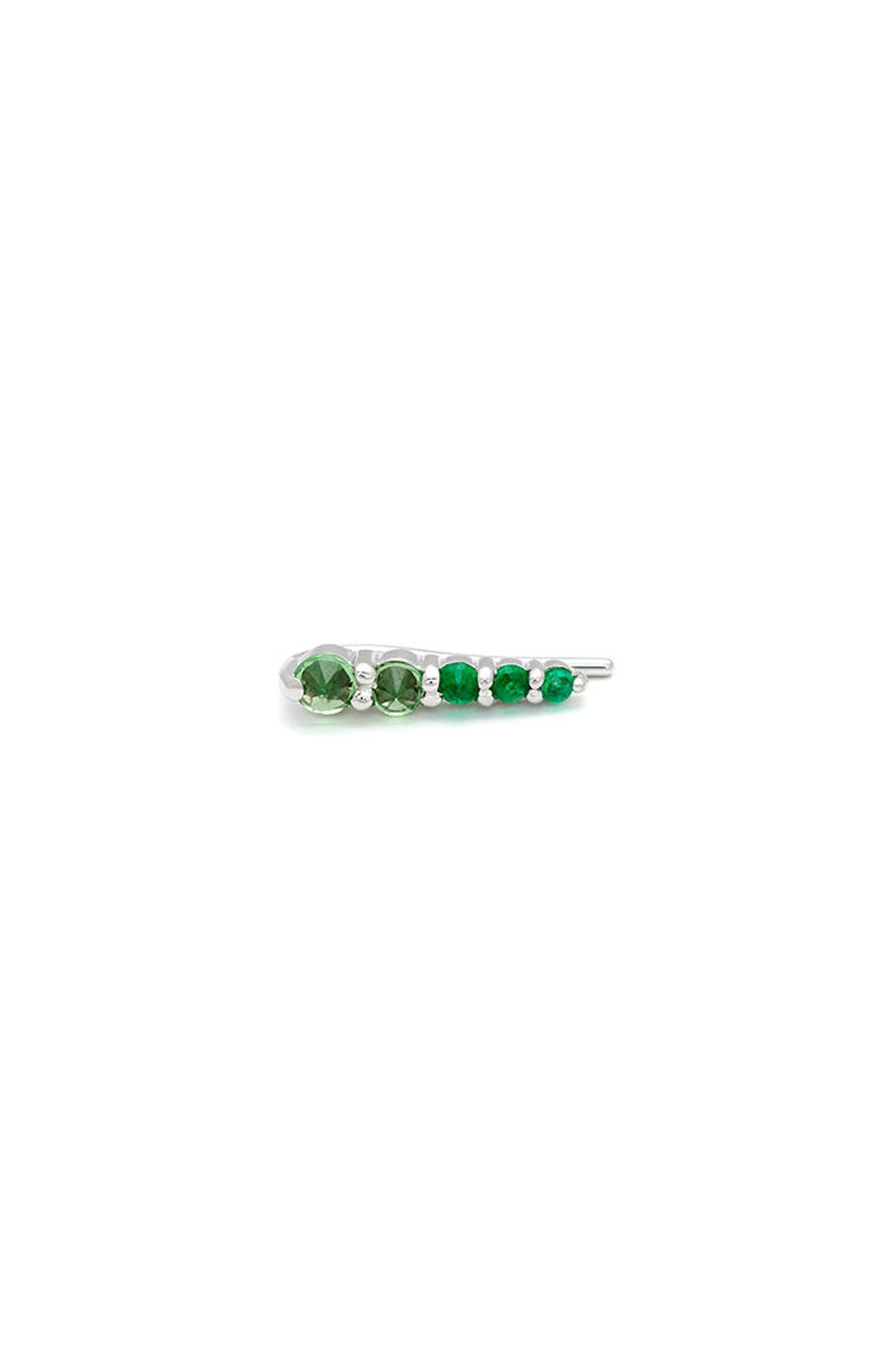 Main Image - Anna Sheffield Emerald & Tsavorite Ear Crawler (Nordstrom Exclusive)
