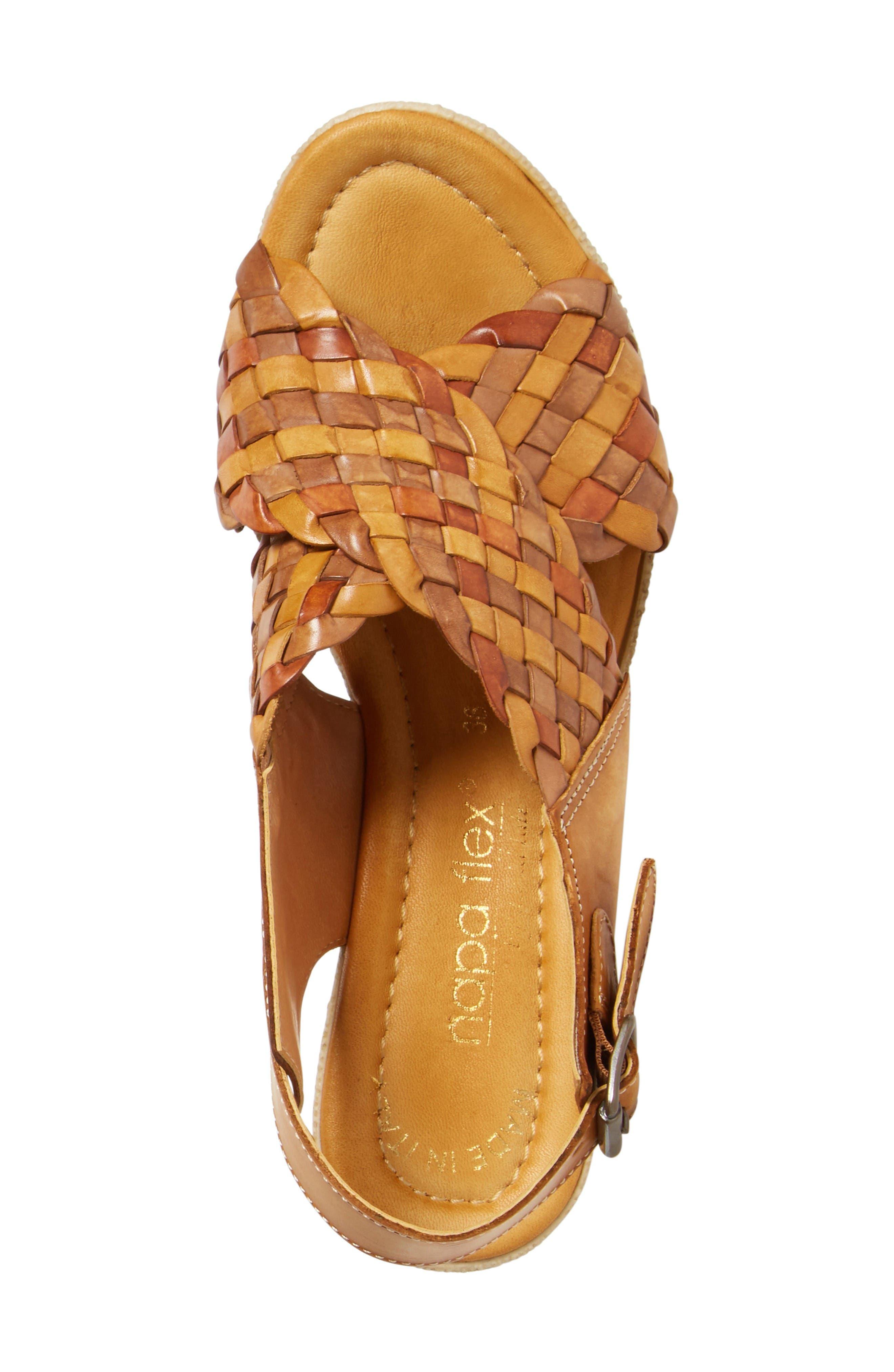 Love Wedge Sandal,                             Alternate thumbnail 3, color,                             Earth Leather
