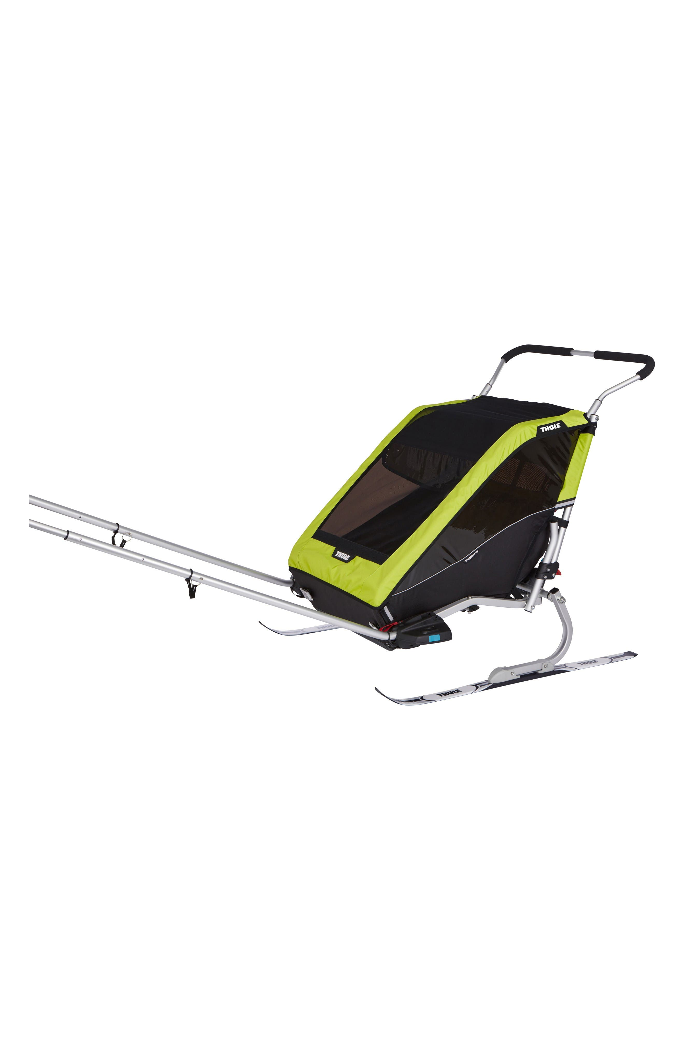 Chariot Cheetah XT 2 Multisport Double Cycle Trailer/Stroller,                             Alternate thumbnail 6, color,                             Chartreuse