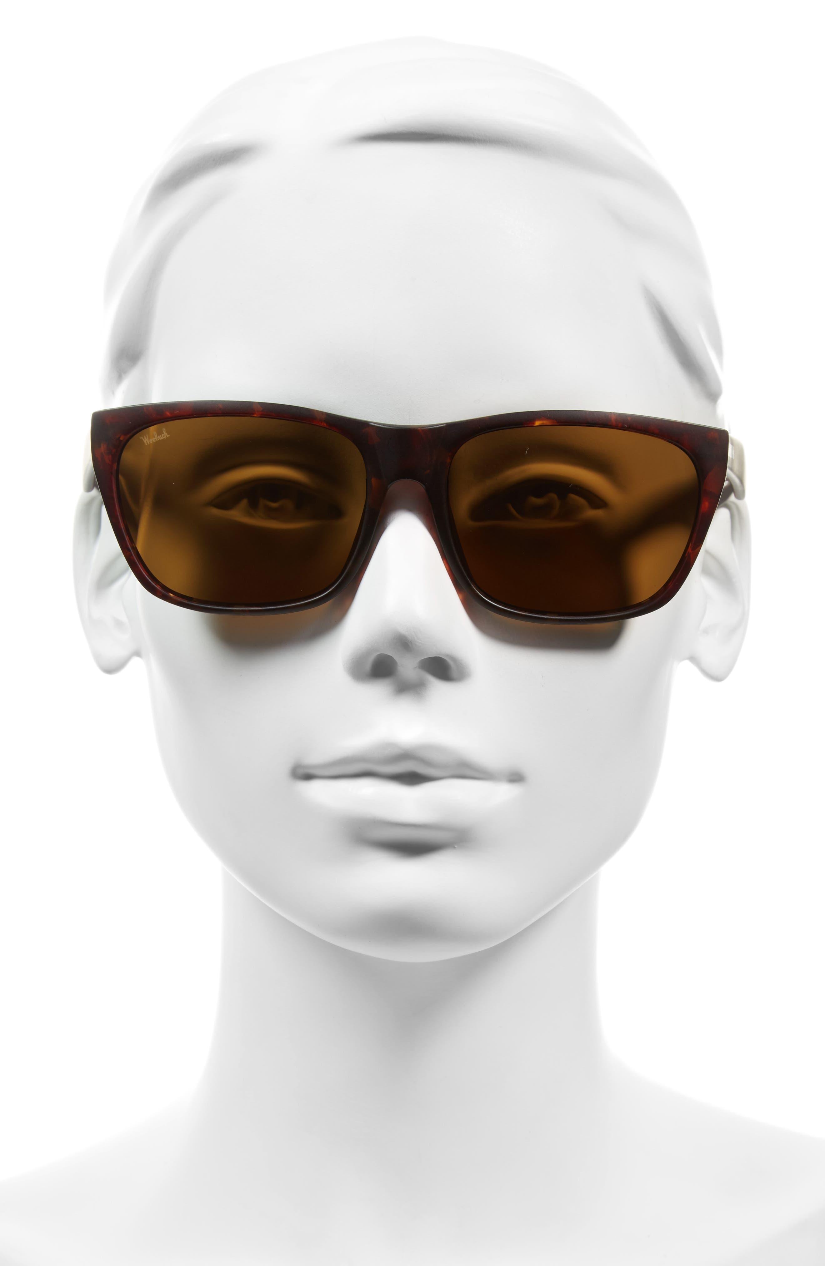Tioga 57mm Polarized Sunglasses,                             Alternate thumbnail 2, color,                             Vintage Havana Matte