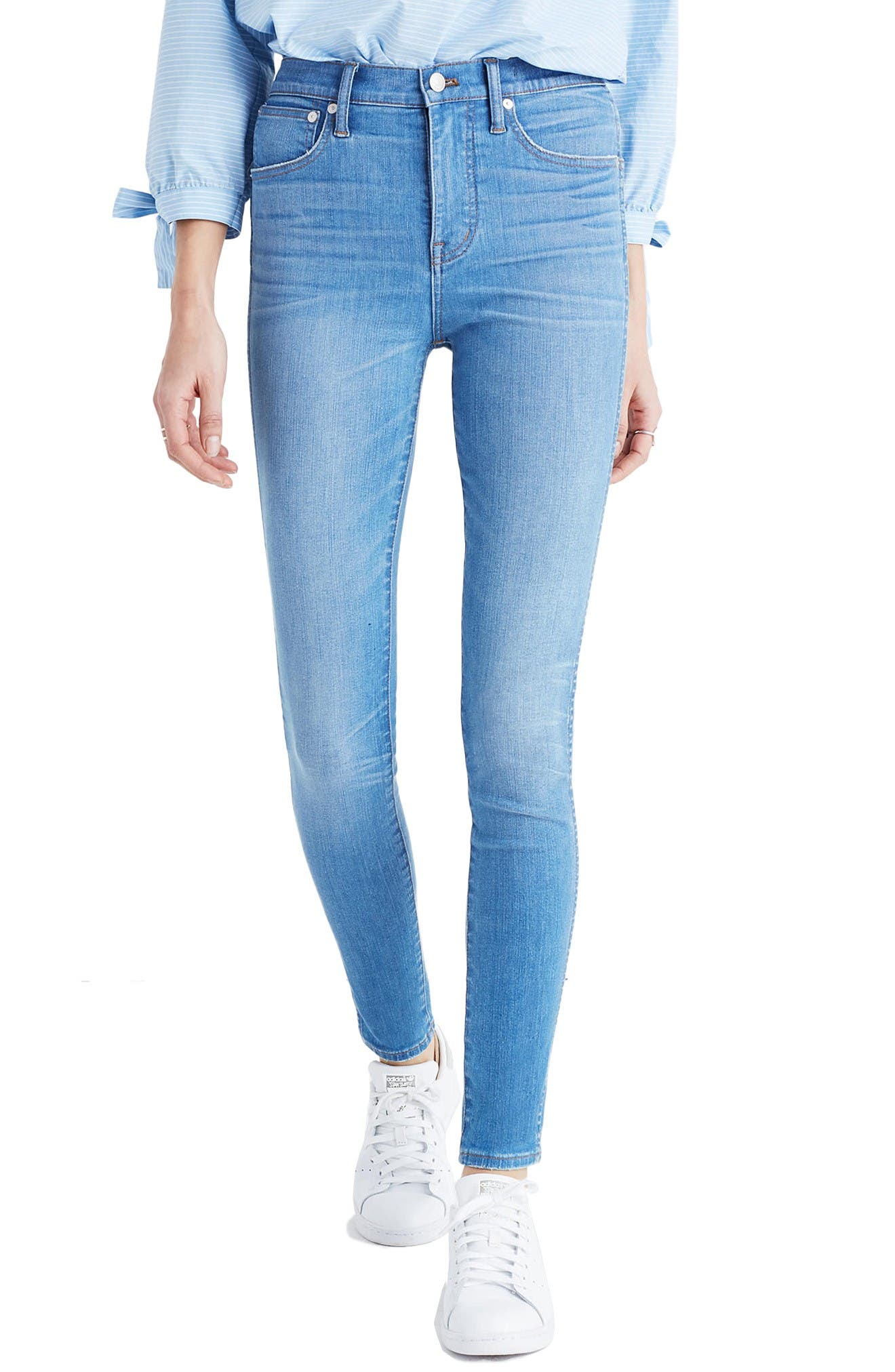 Alternate Image 1 Selected - Madewell High Rise Skinny Jeans (Hank Wash)