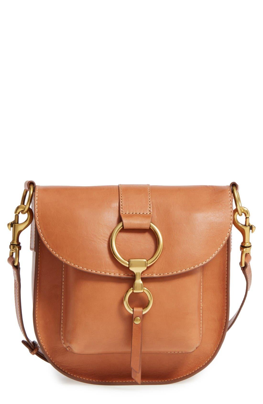 FRYE Ilana Leather Saddle Bag