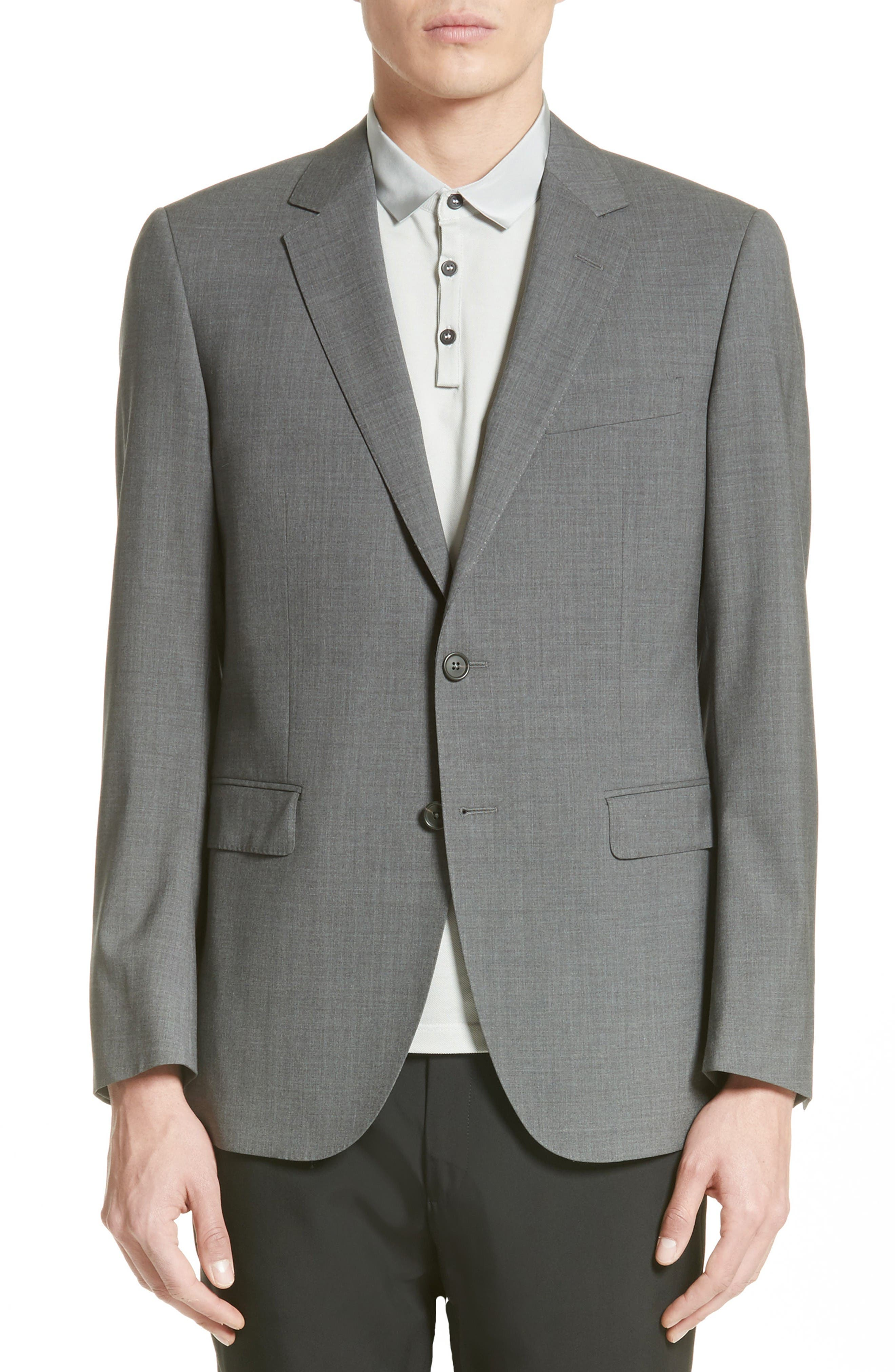 Tropical Wool Suit Jacket,                             Main thumbnail 1, color,                             Grey