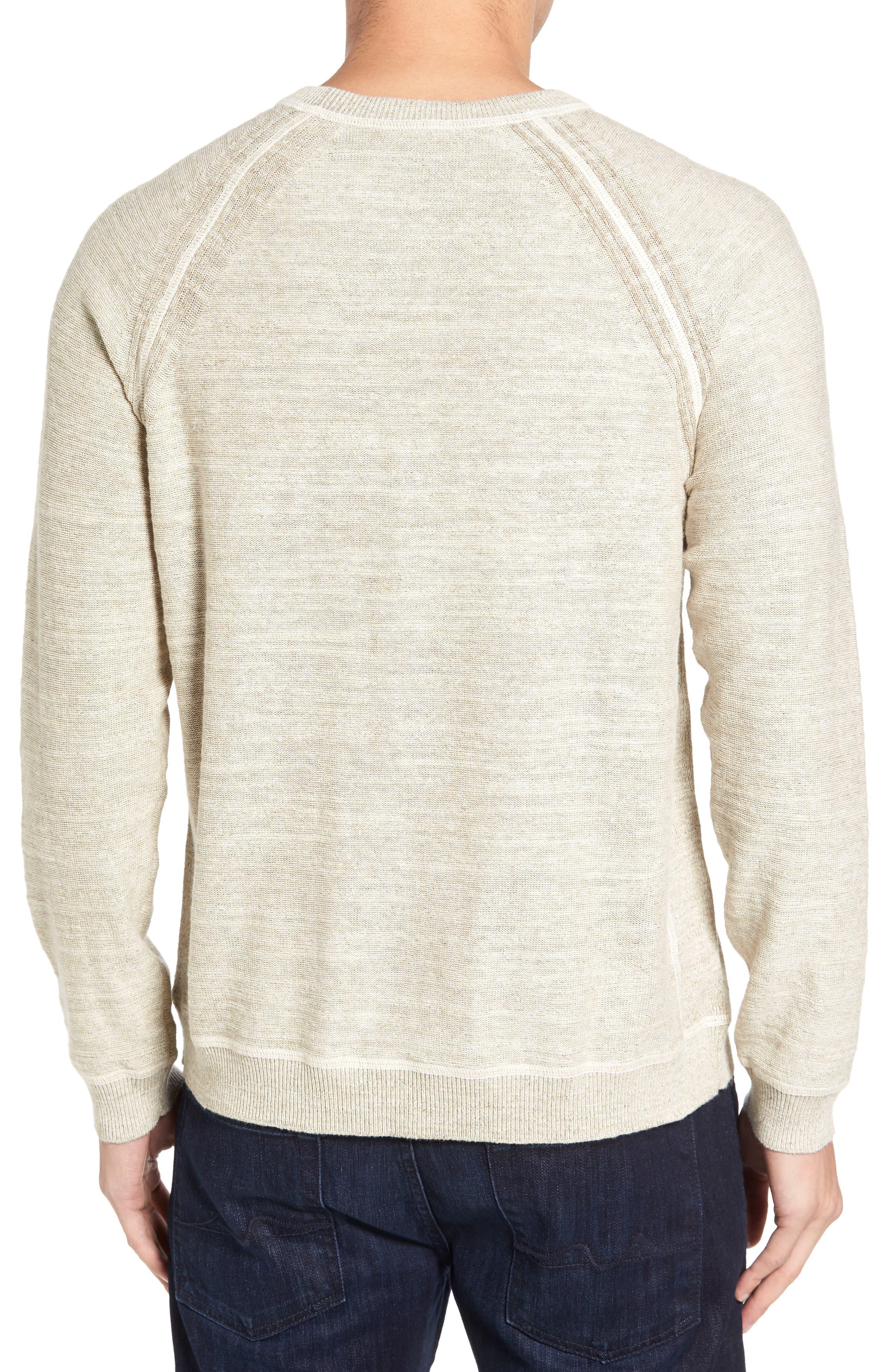 Alternate Image 2  - Tommy Bahama Sandy Bay Reversible Crewneck Sweater