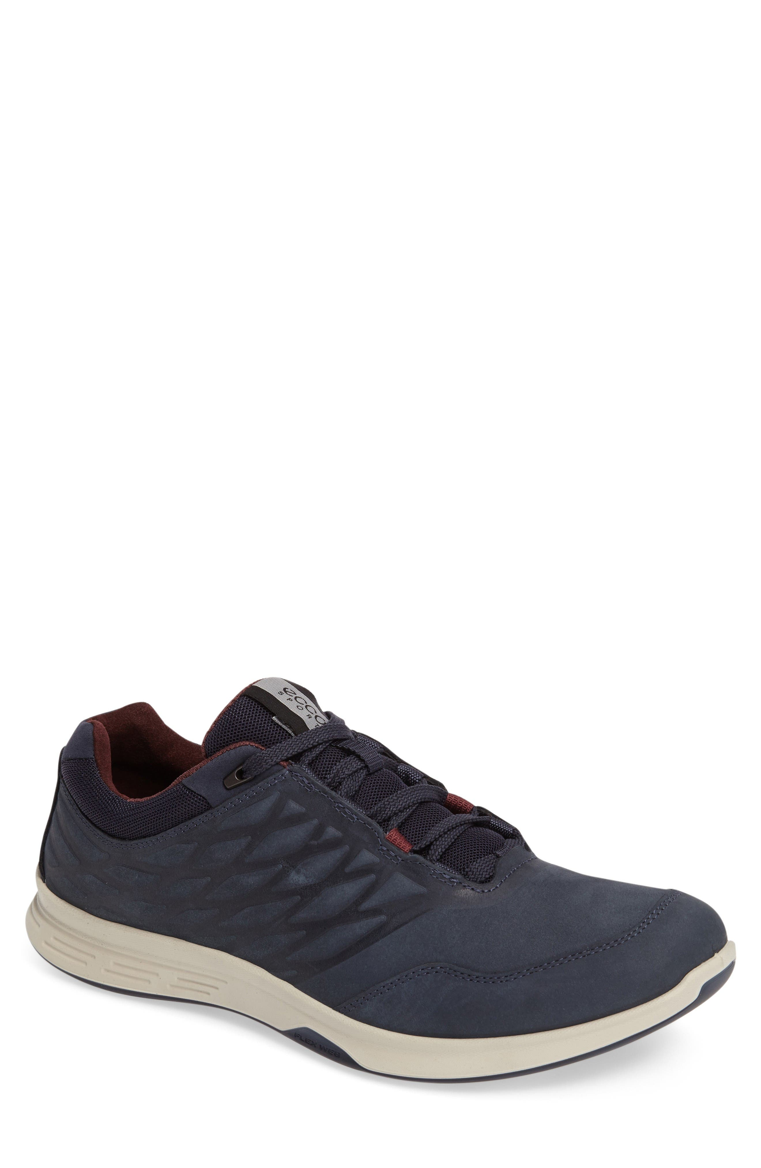 'Exceed' Leather Sneaker,                             Main thumbnail 1, color,                             Marine
