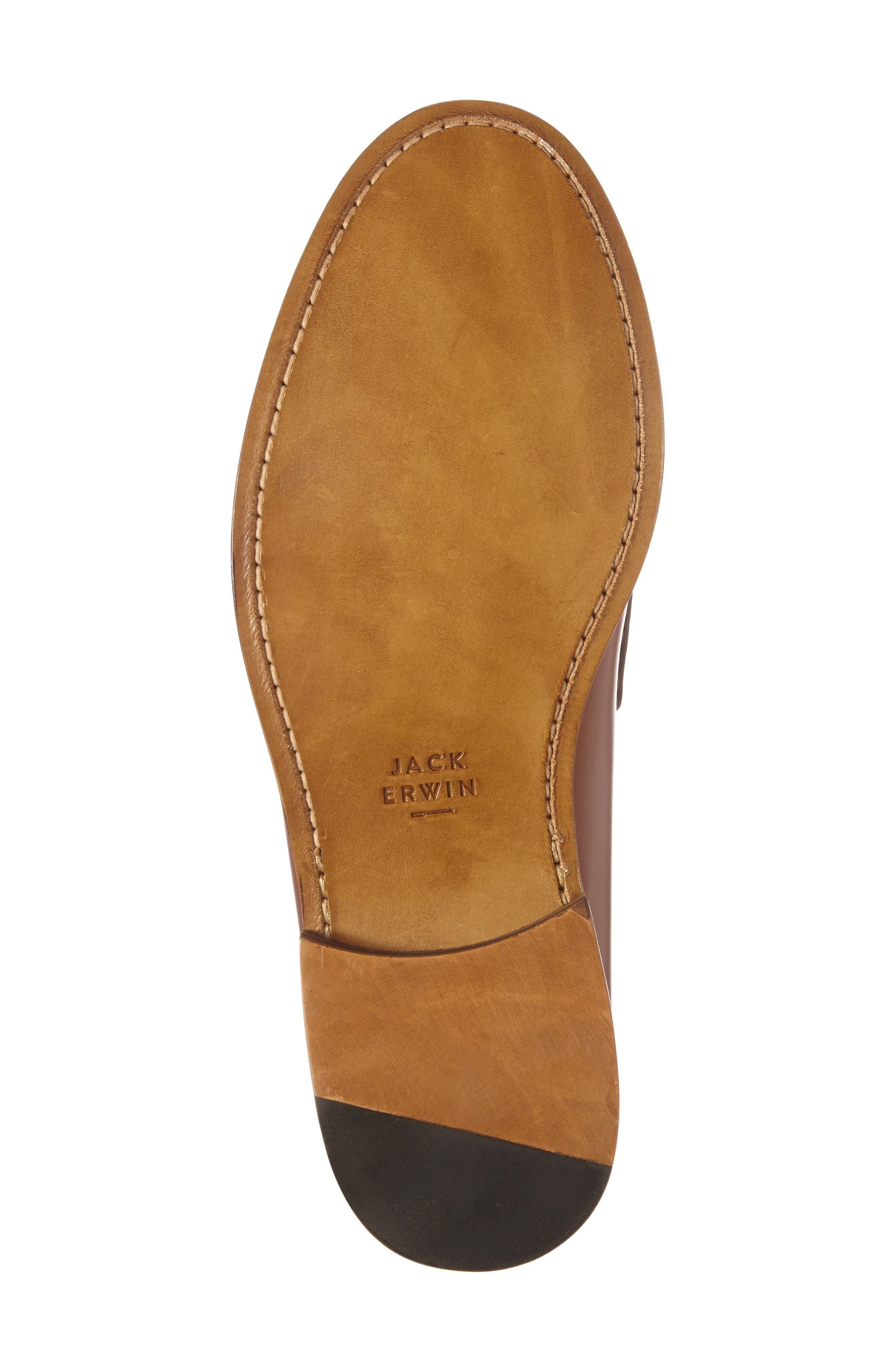 Charlie Penny Loafer,                             Alternate thumbnail 4, color,                             Cognac Leather