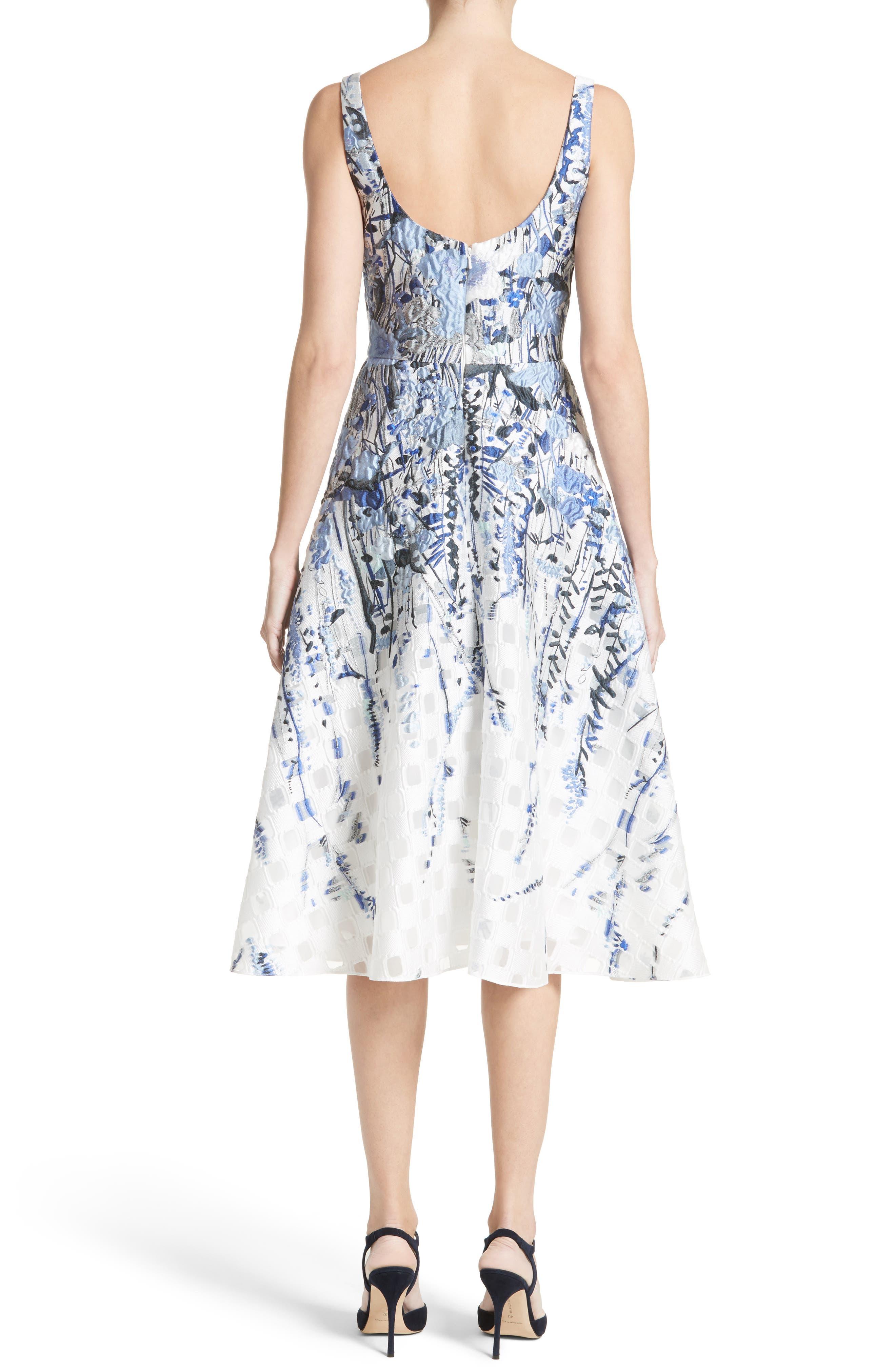 Alternate Image 2  - Lela Rose Wildflower Fil Coupé Dress
