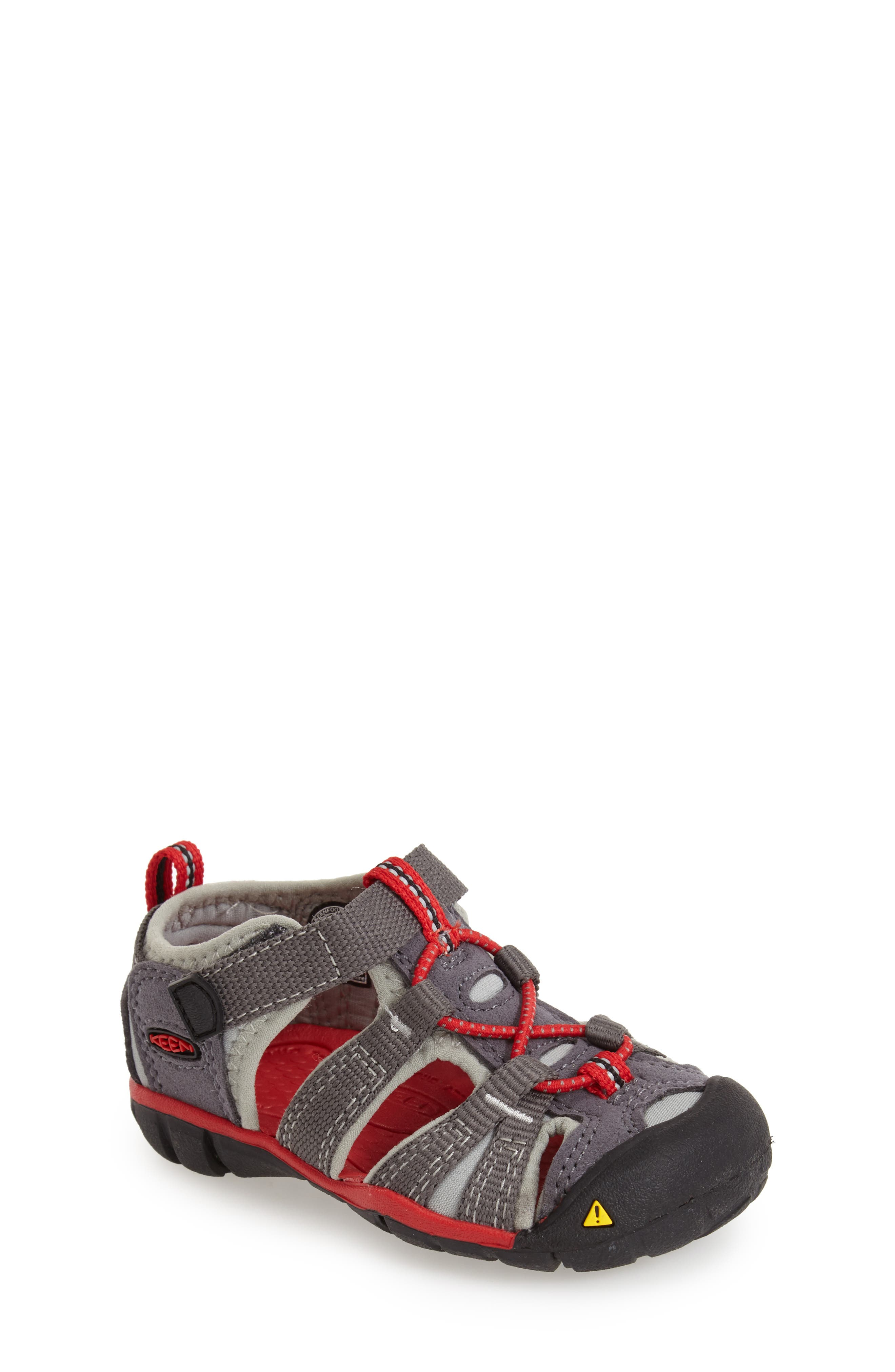 Seacamp II Water Friendly Sandal,                             Main thumbnail 1, color,                             Magnet/ Racing Red