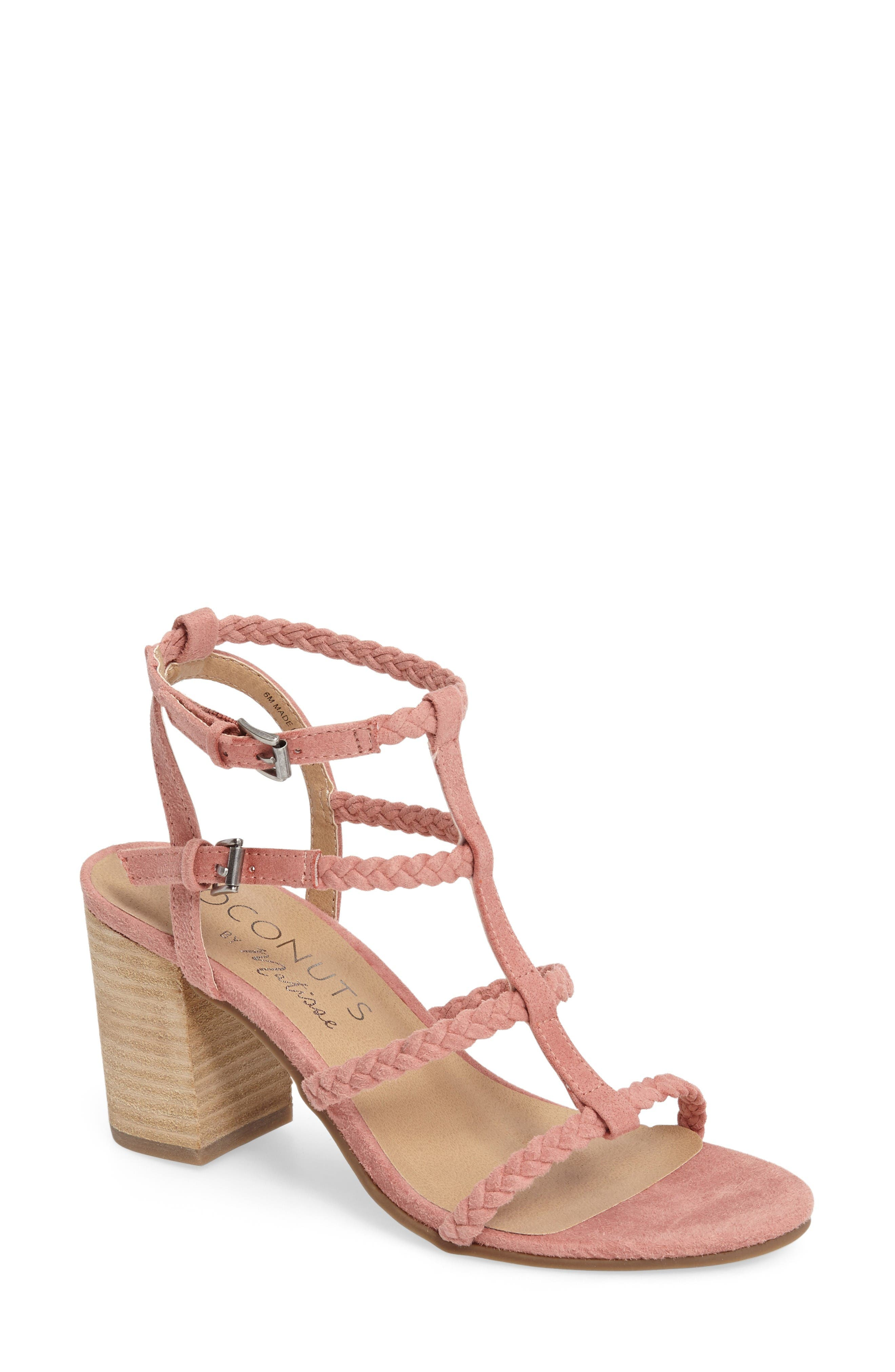 Coconuts by Matisse Cora Sandal,                             Main thumbnail 1, color,                             Pink Suede