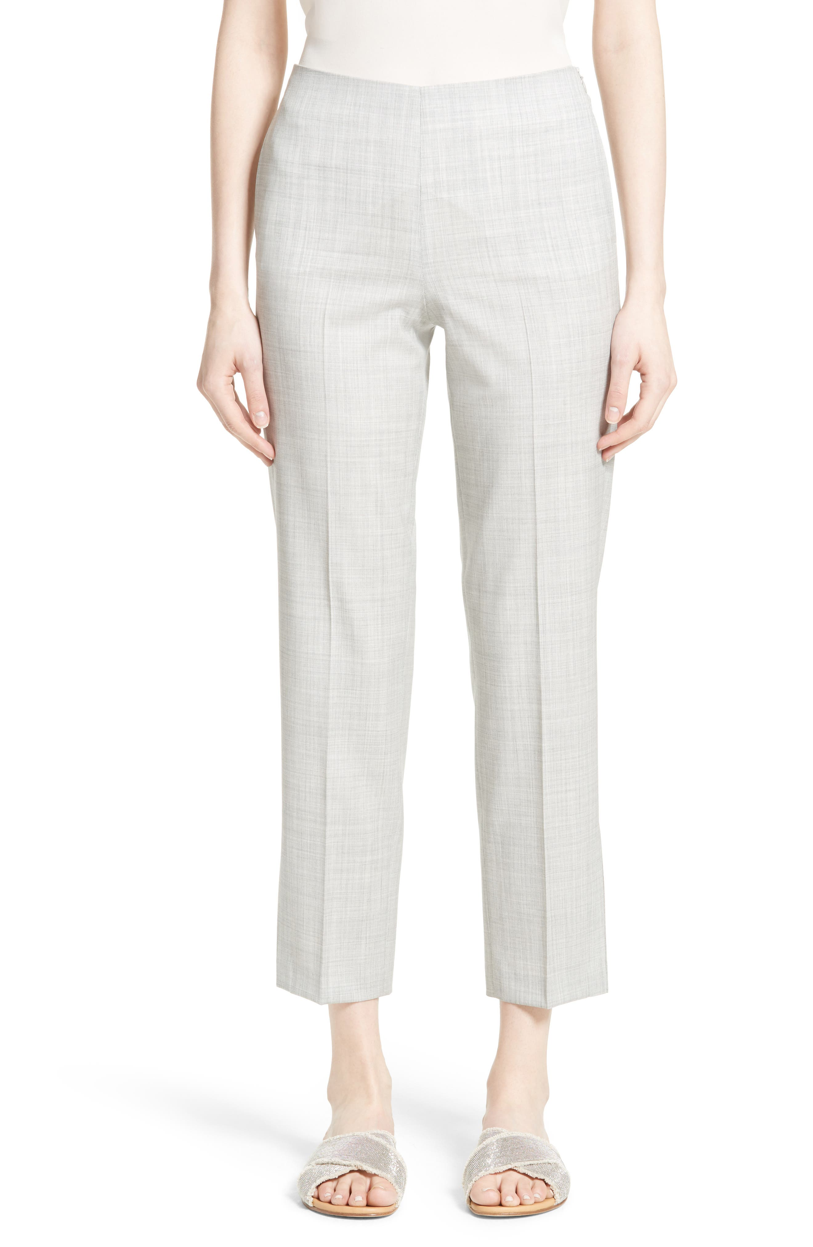 Alternate Image 1 Selected - Fabiana Filippi Crop Wool Pants