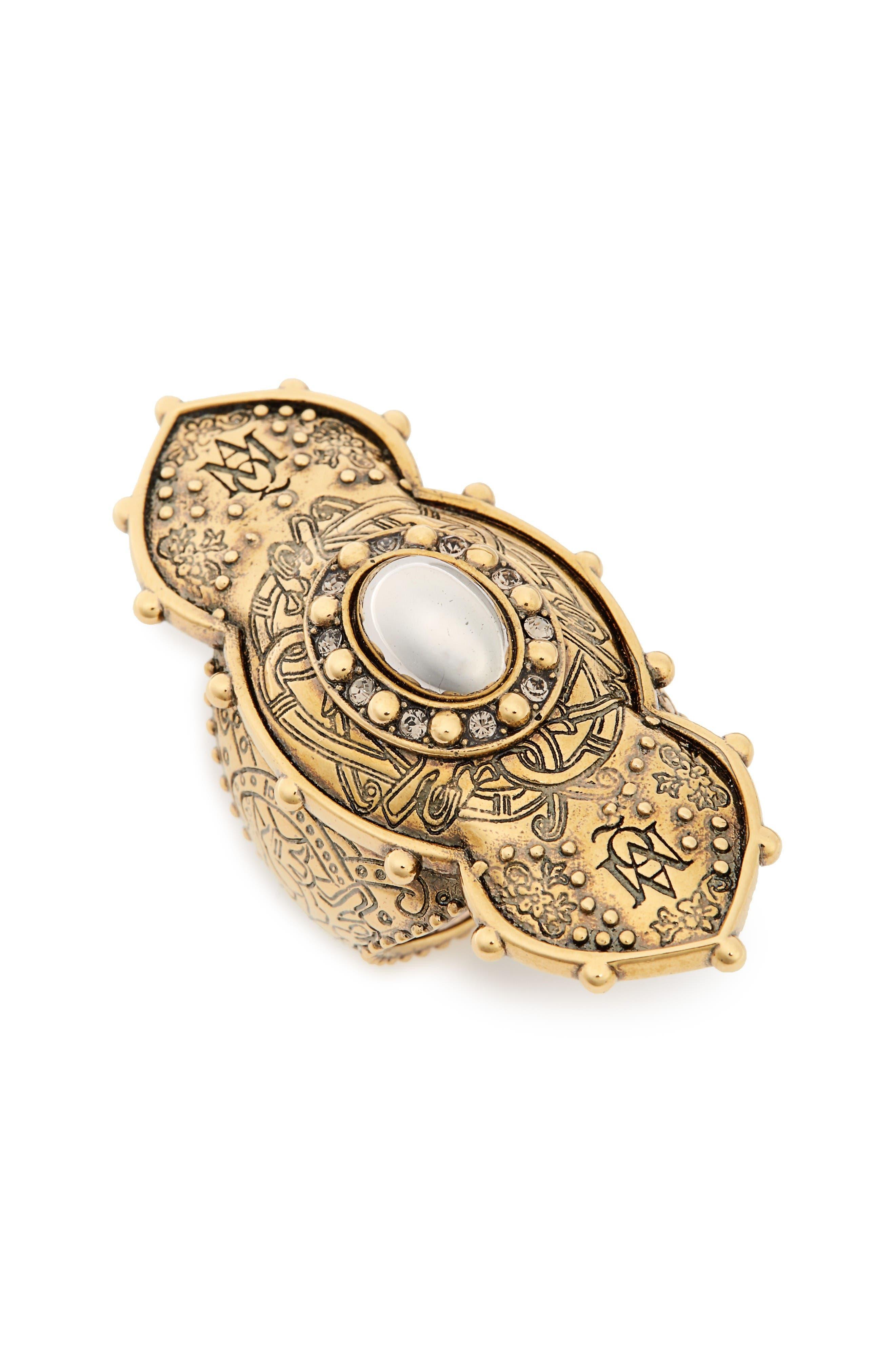ALEXANDER MCQUEEN Jewel Oval Ring